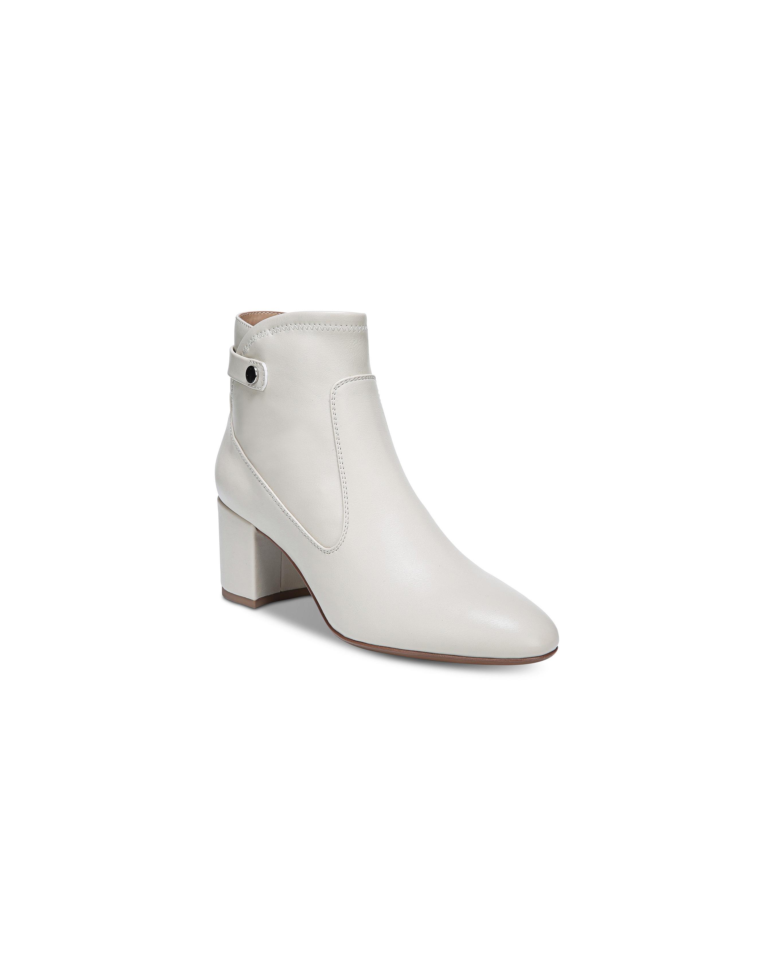 white bridal booties franco sorto newton block heel