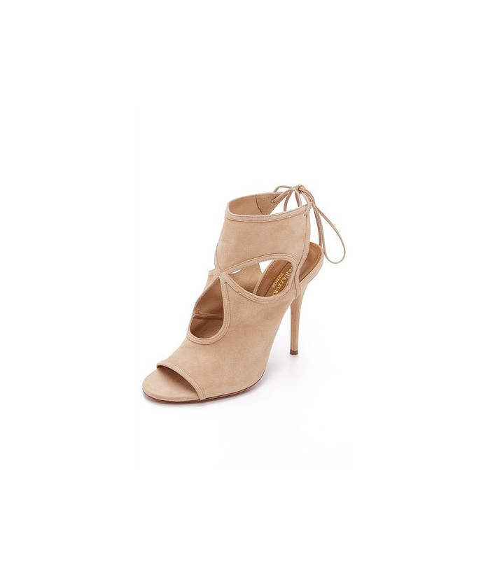 cut-out nude booties