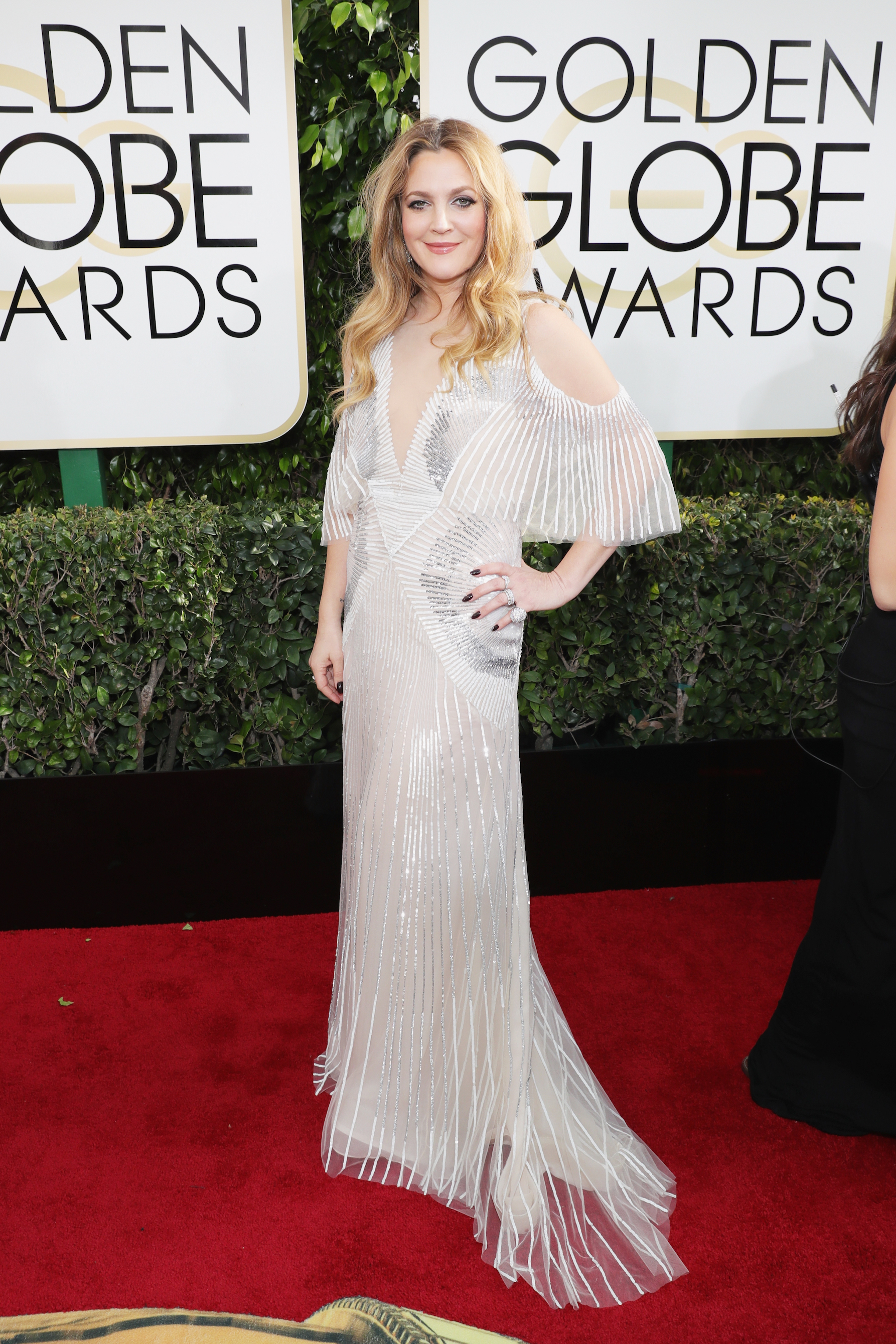 Drew Barrymore Golden Globes 2017