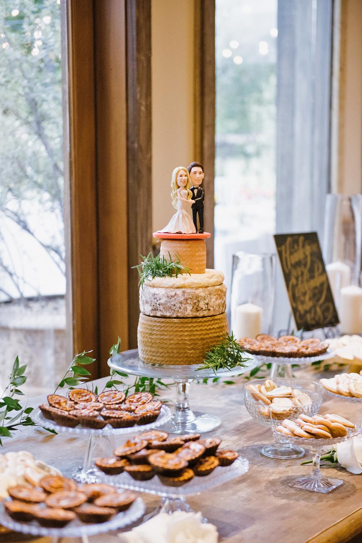 shannon jon wedding cheese desserts