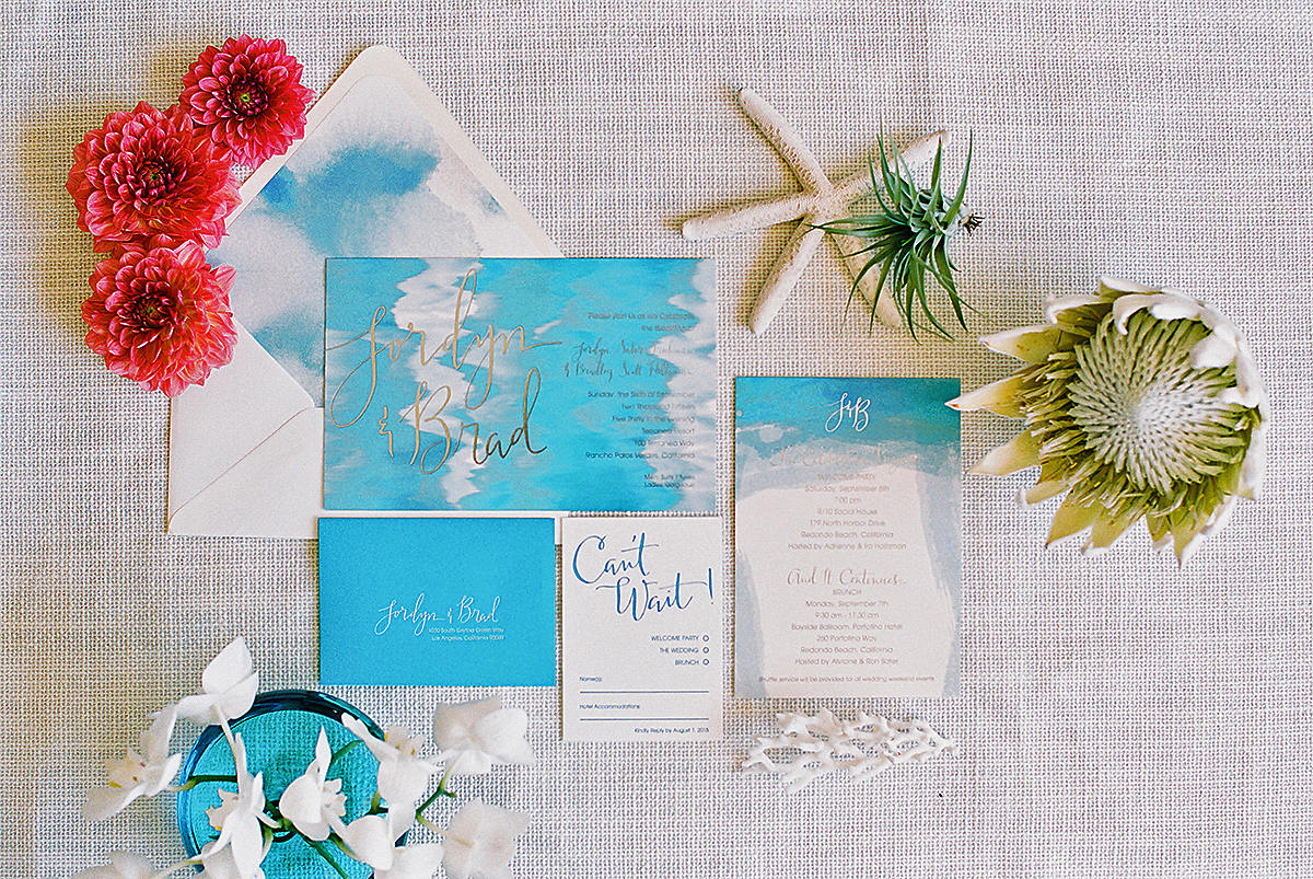 beach themed invitations