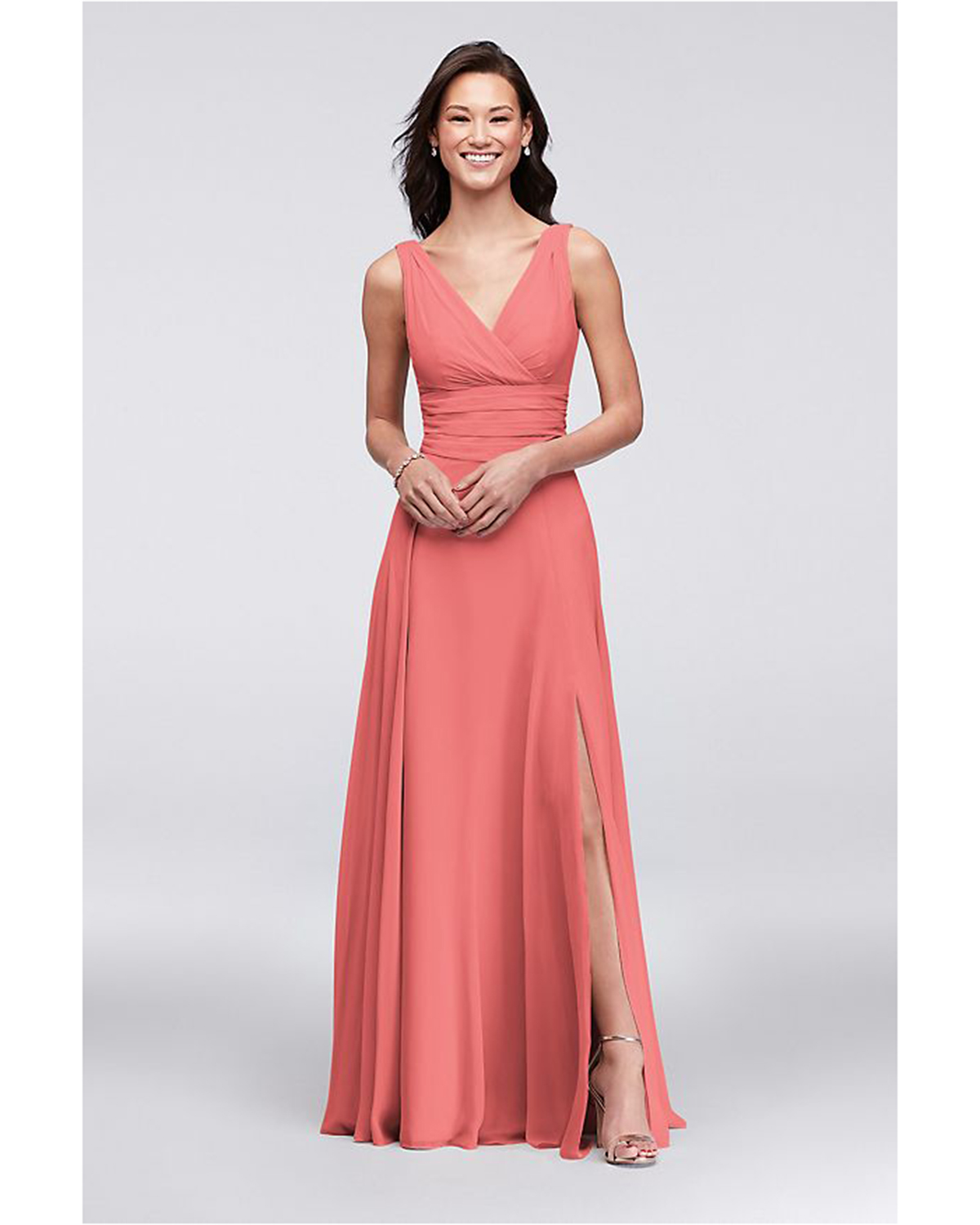 Coral Wedding Gowns: 15 Coral Bridesmaids' Dresses Your Wedding Party Will Love