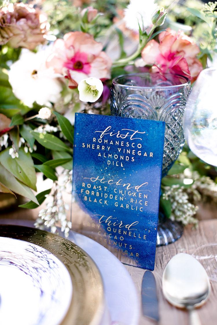 Celestial Wedding Menu