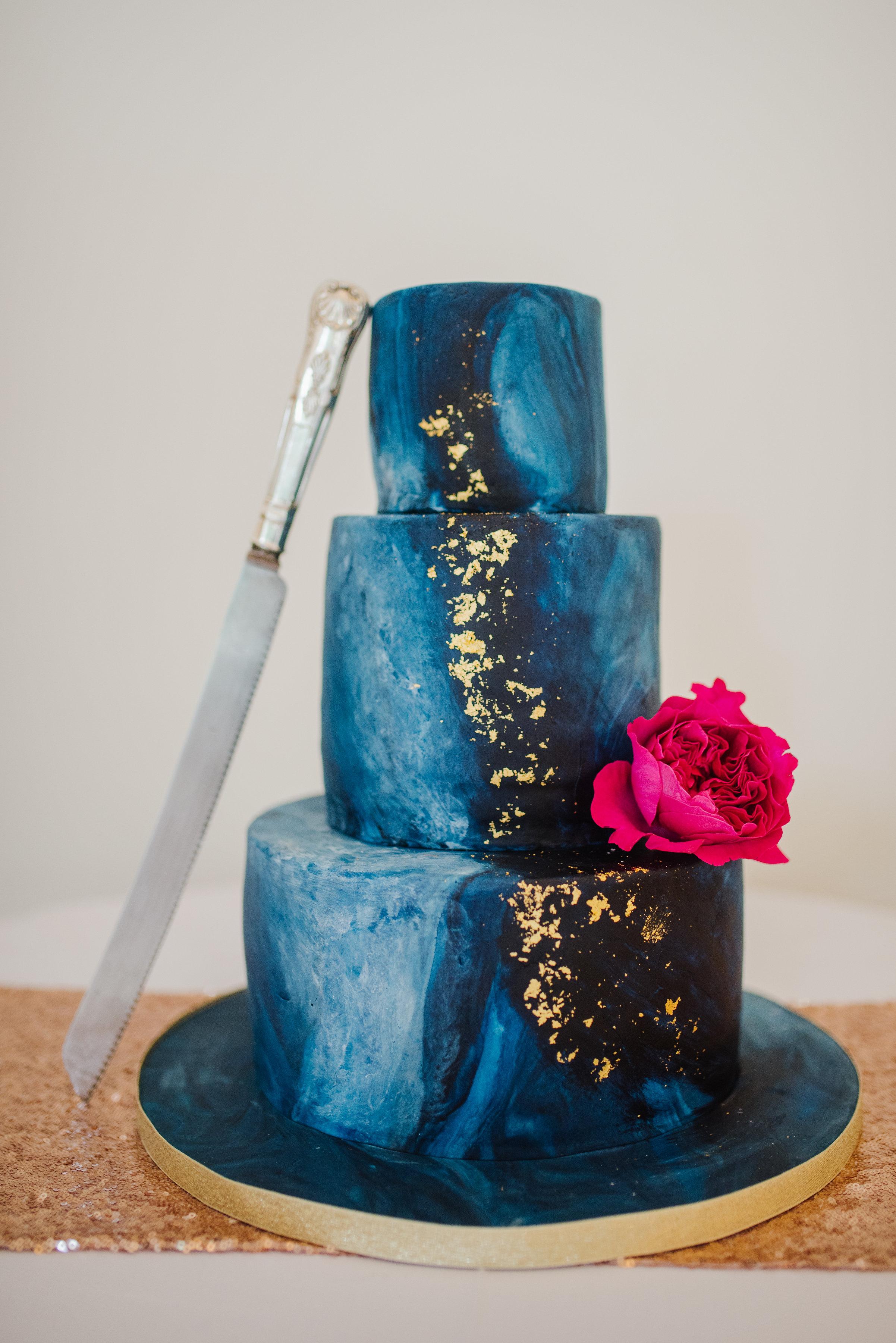 Blue Celestial Wedding Cake