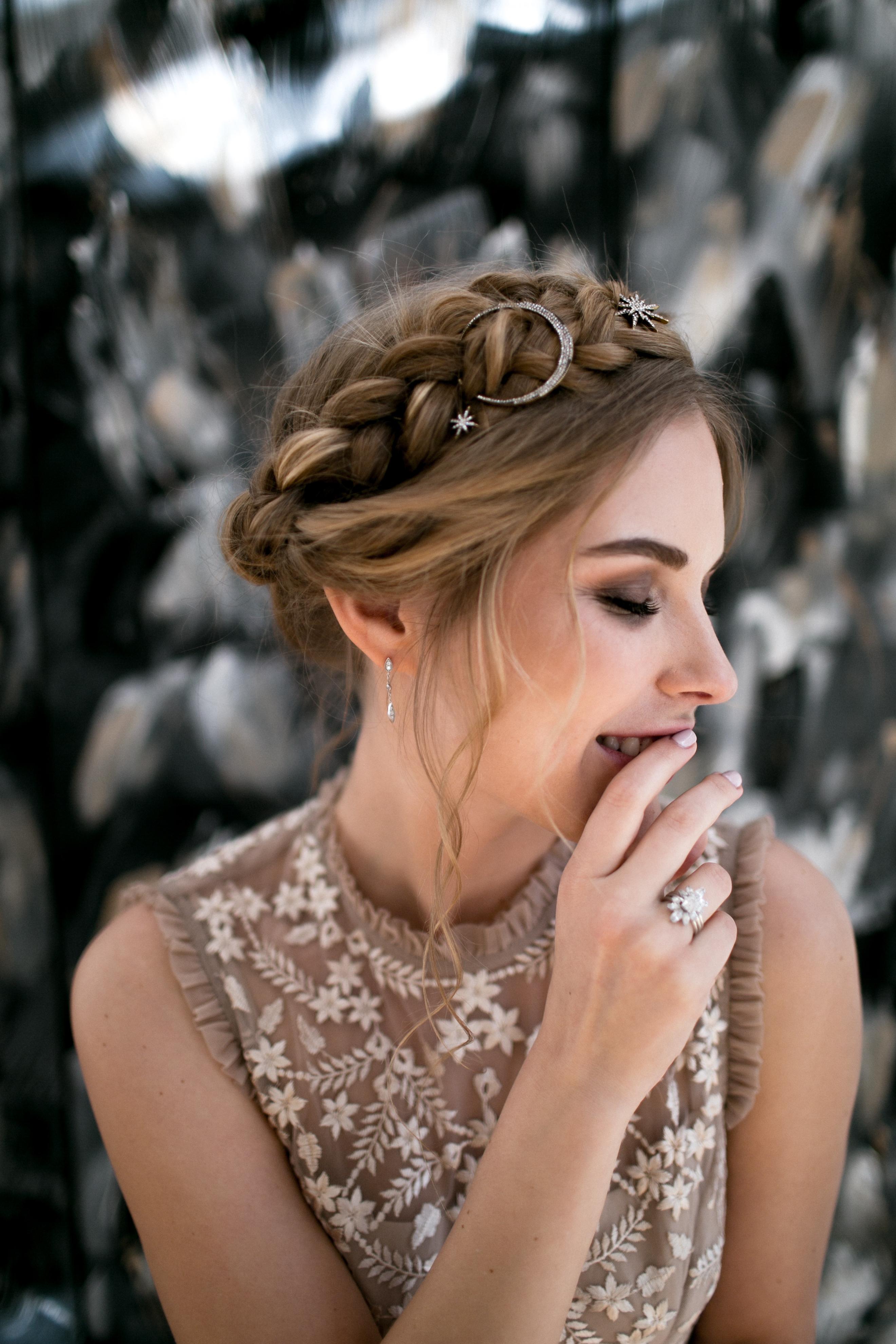 Celestial Wedding Hair Details