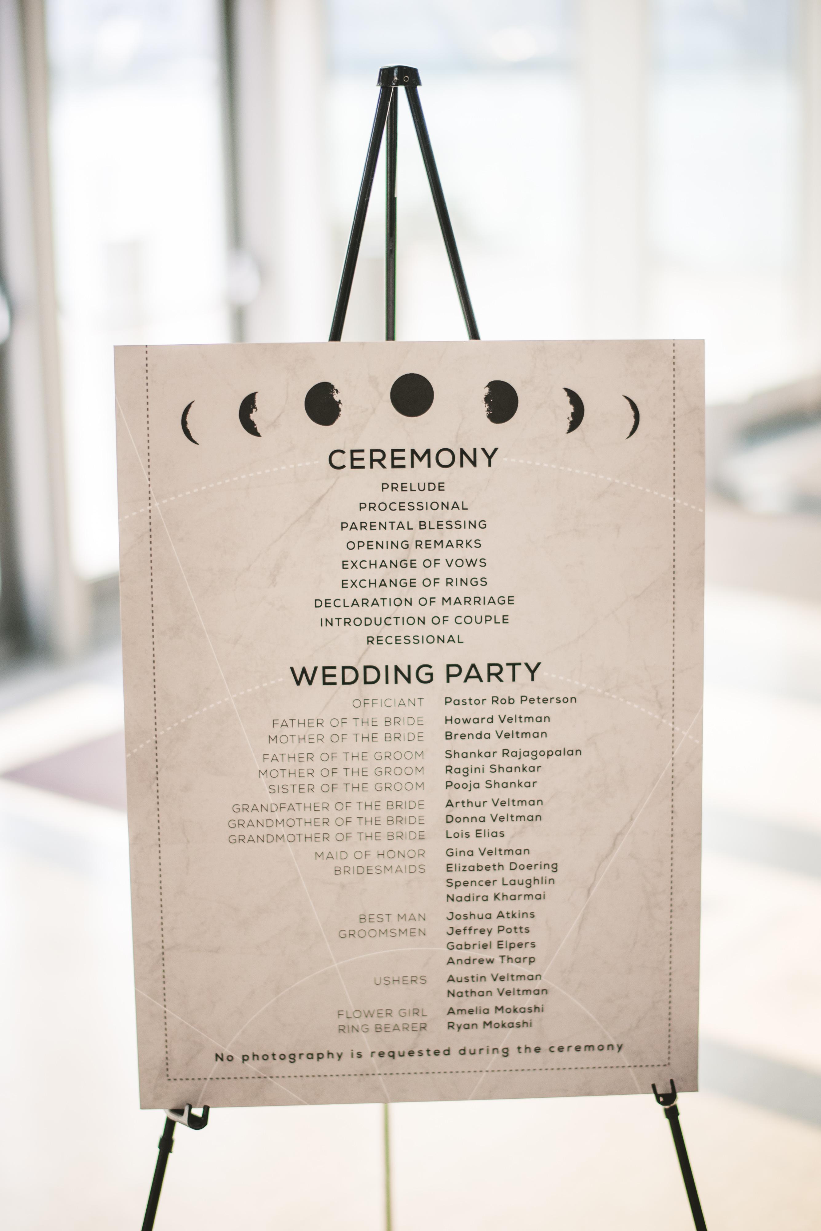 Celestial Wedding Program