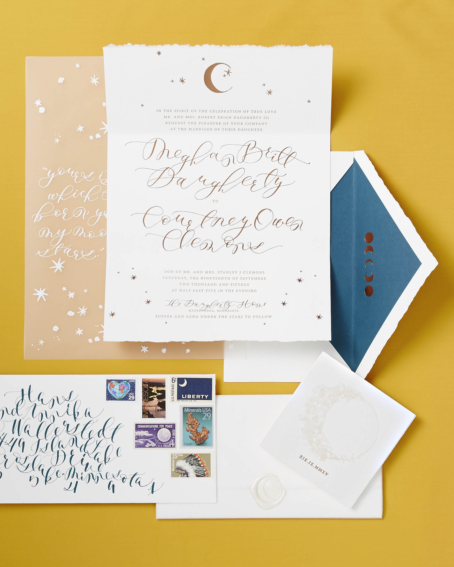 britt courtney wedding invitation suite