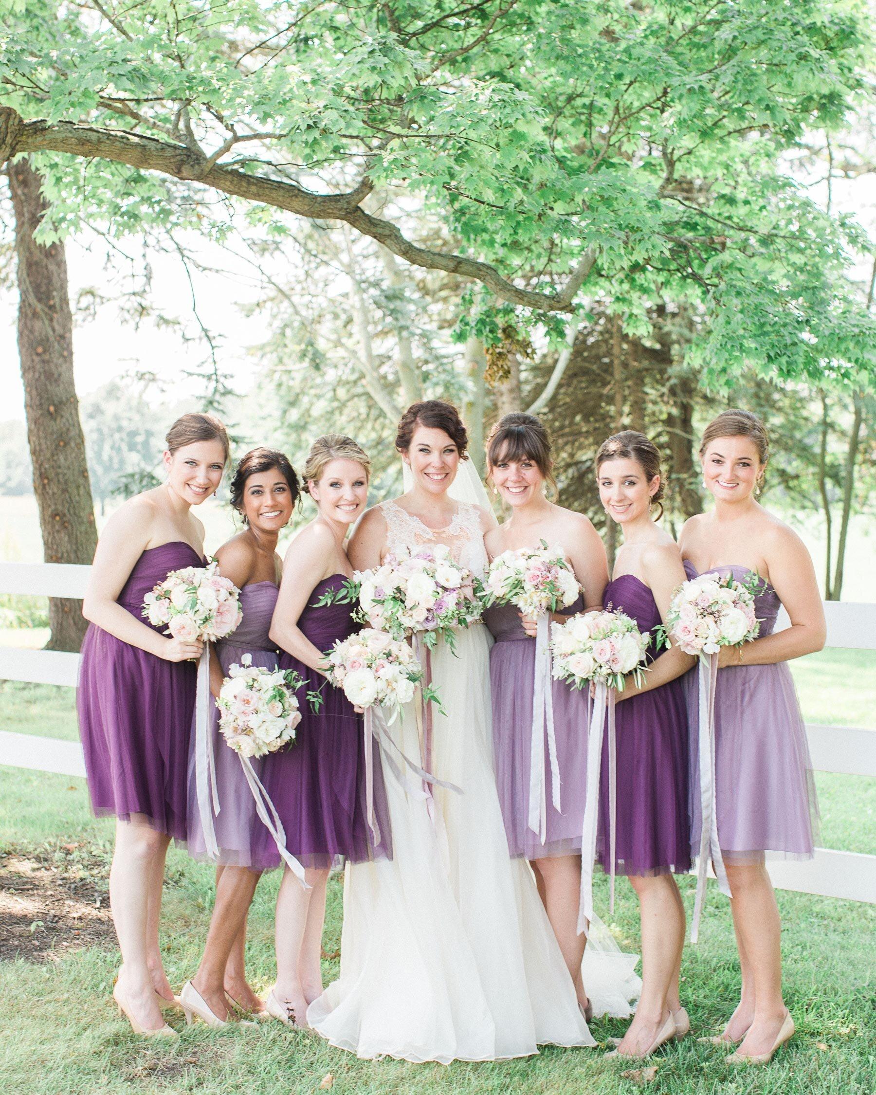Purple Bridesmaid Dresses Martha