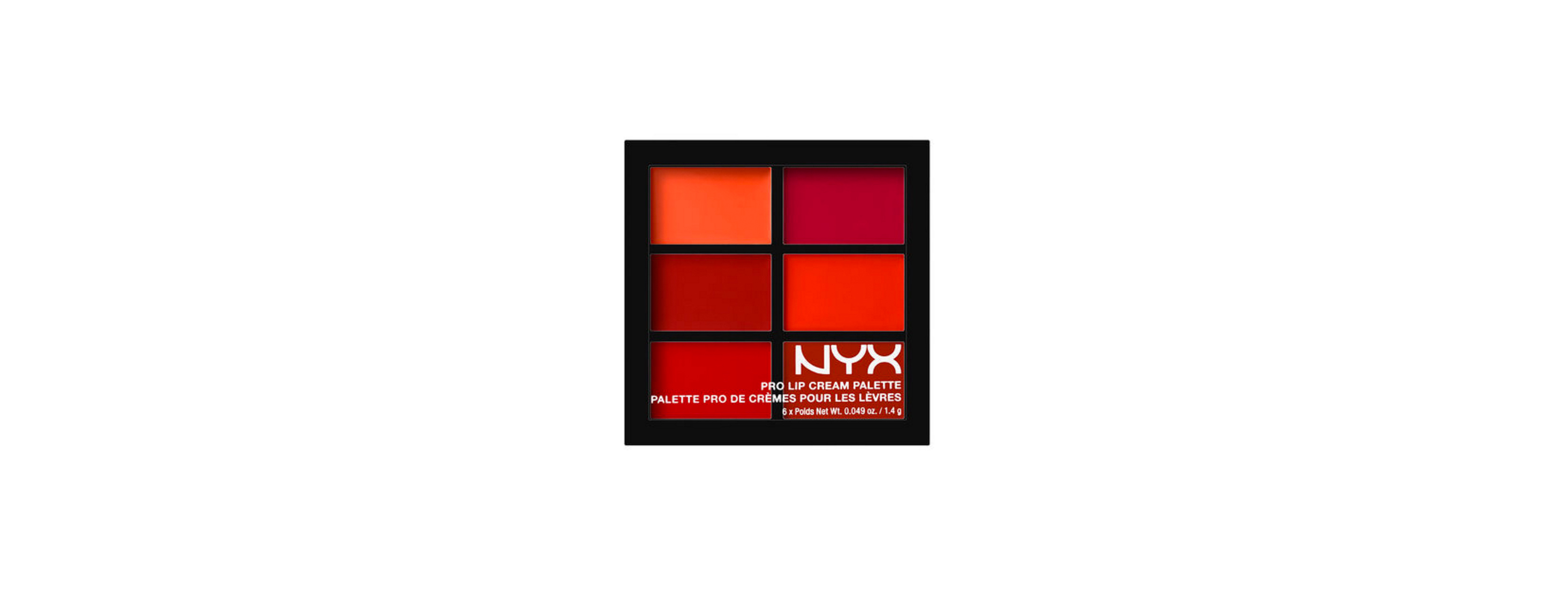 nyx pro lip cream palette the reds