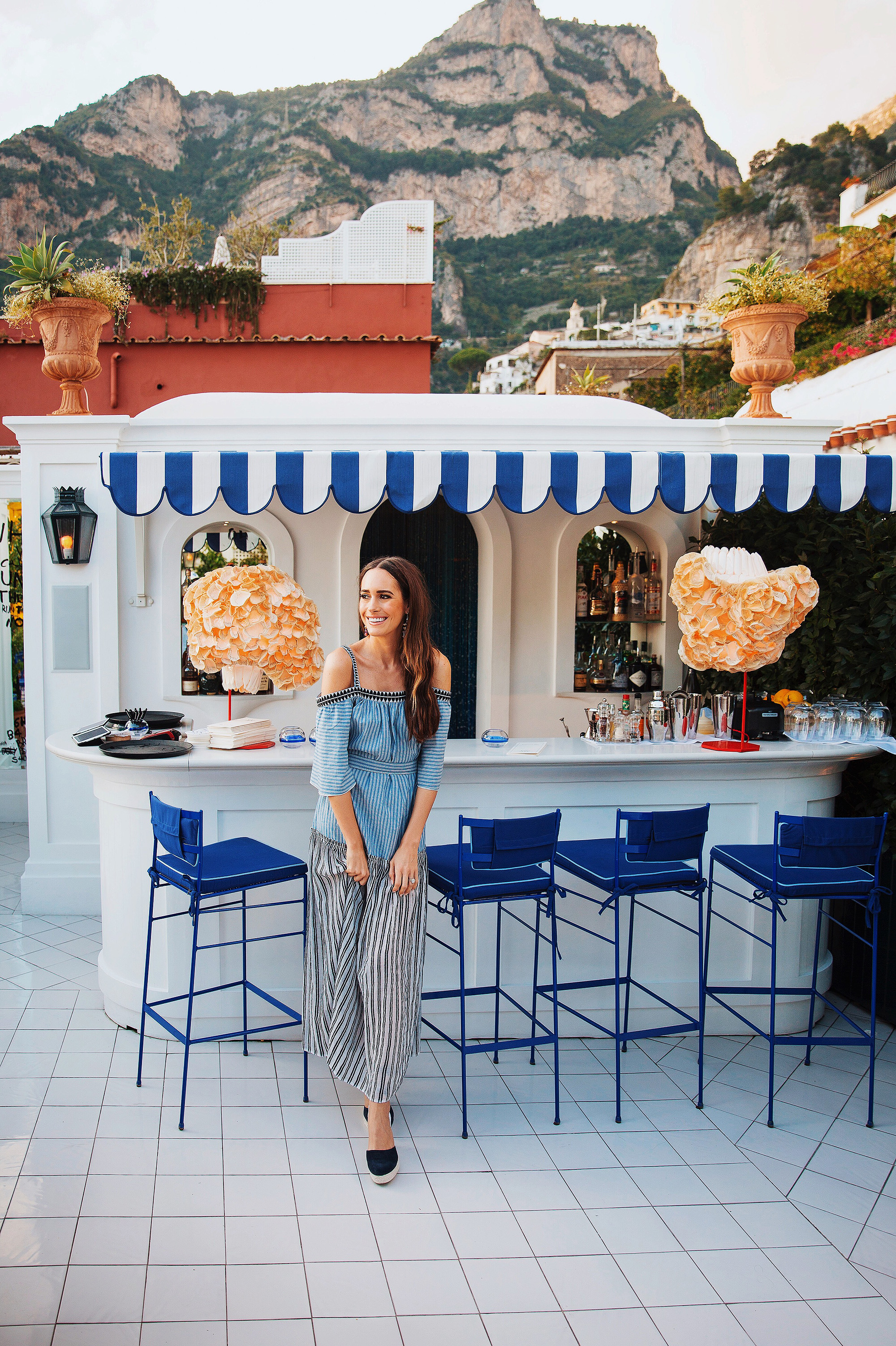 louise roe honeymoon italy dress