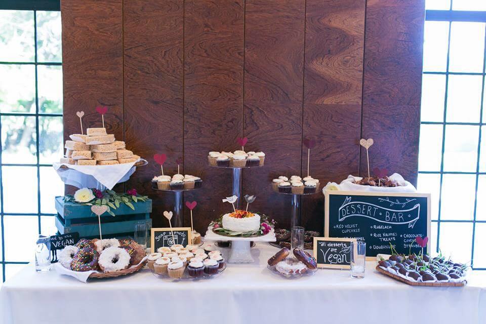 peta vegan wedding dessert bar