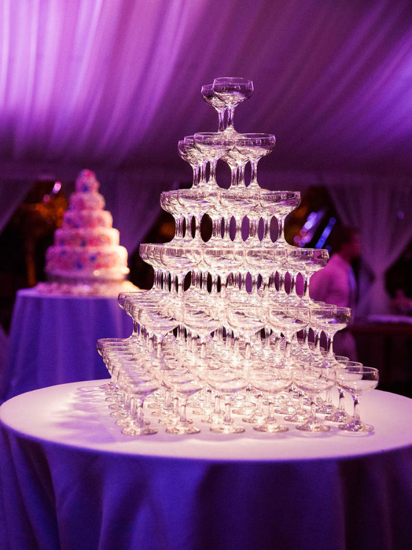 big champagne tower