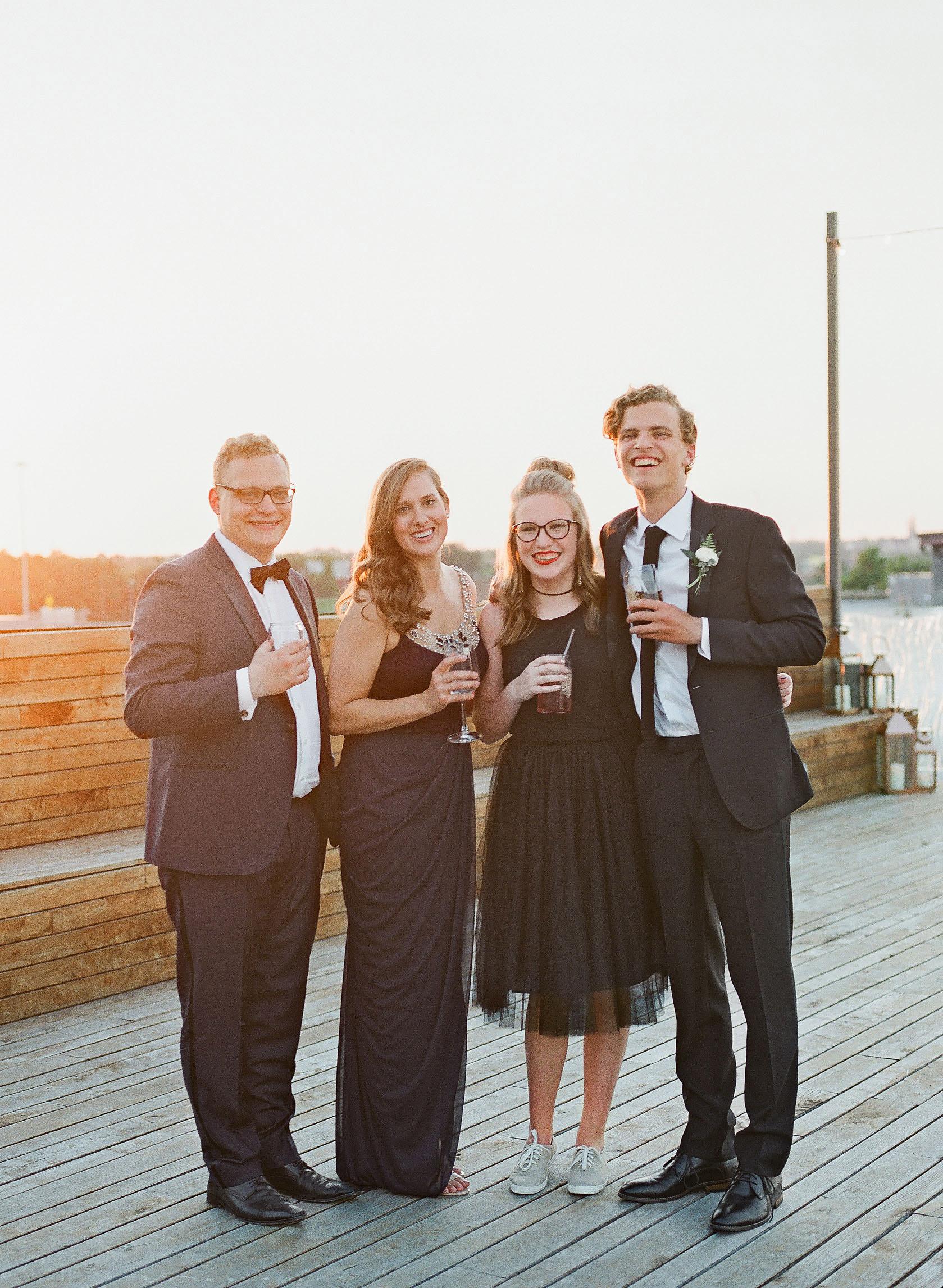 wedding guests black tie reception