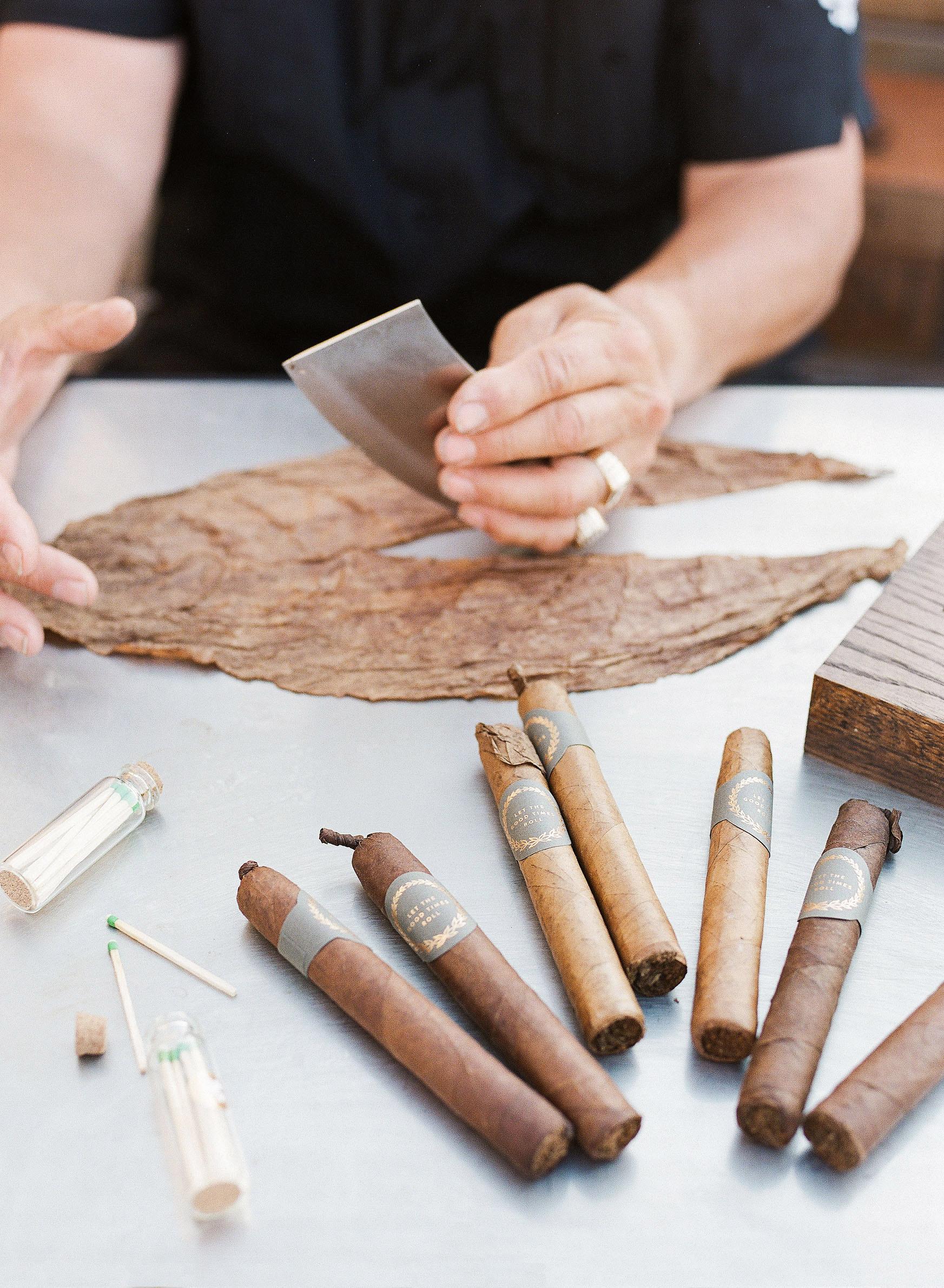 fresh cigar rolling wedding