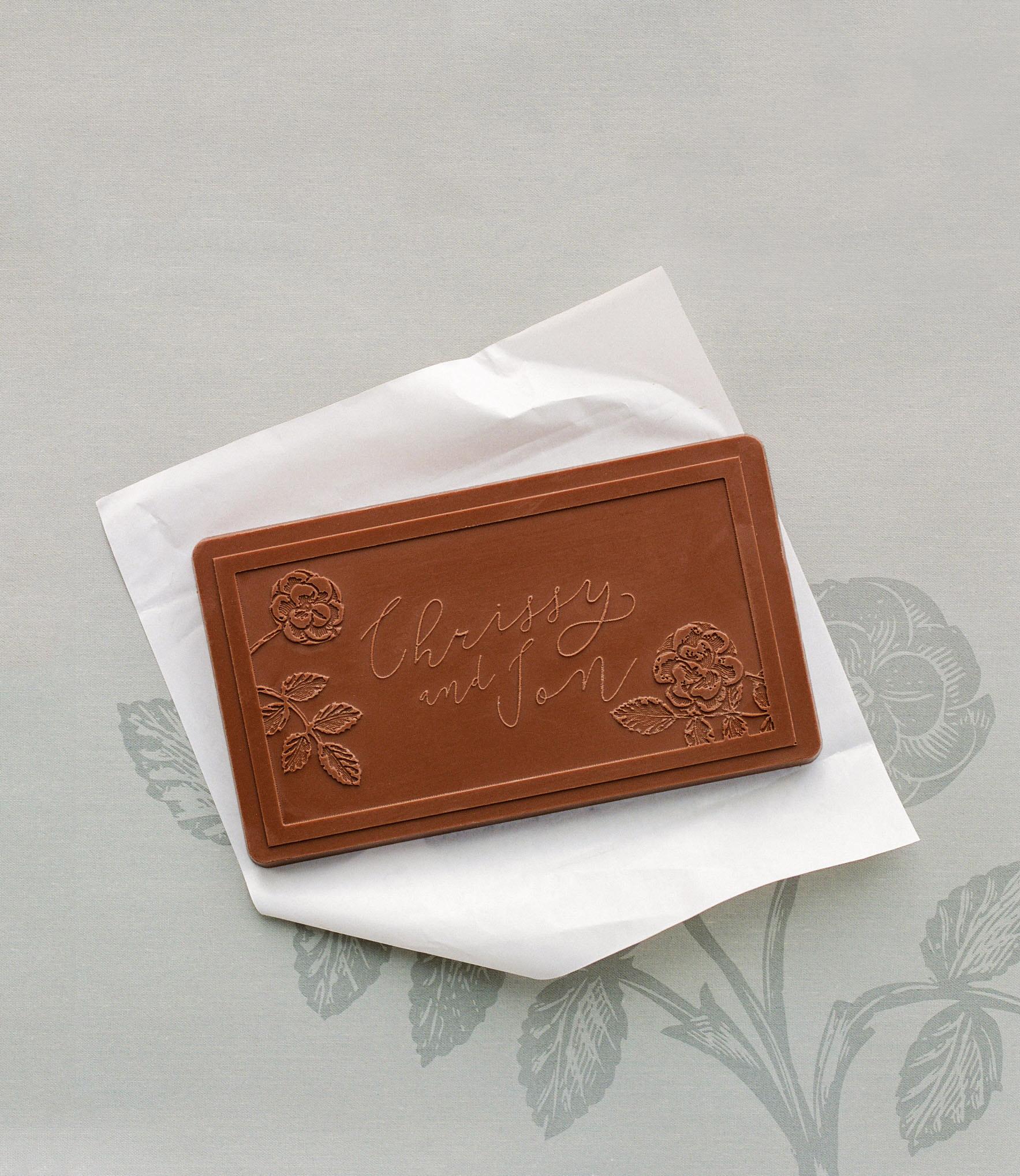 chrissy jon wedding chocolate favor