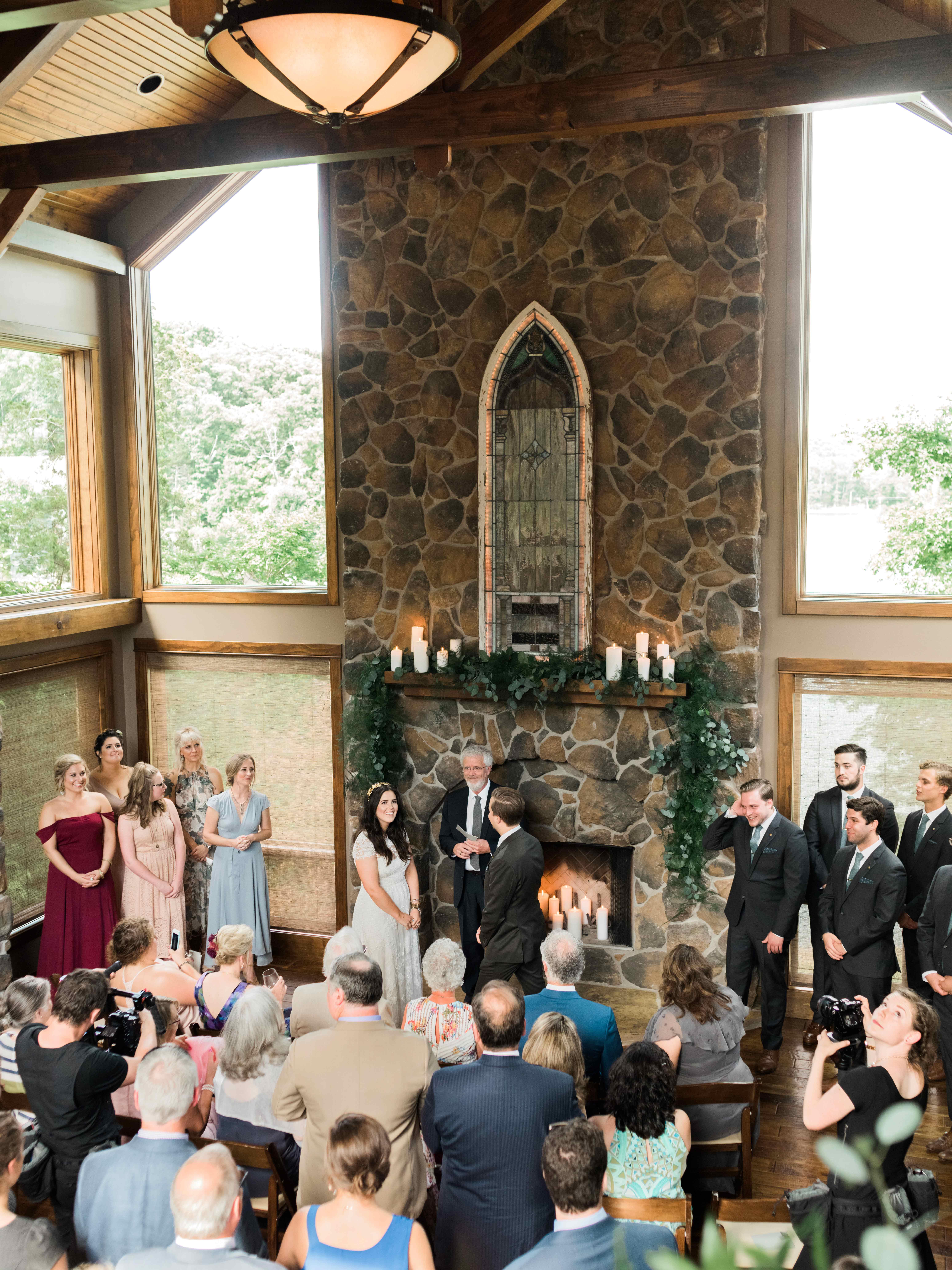 chrissy and jons indoor wedding ceremony