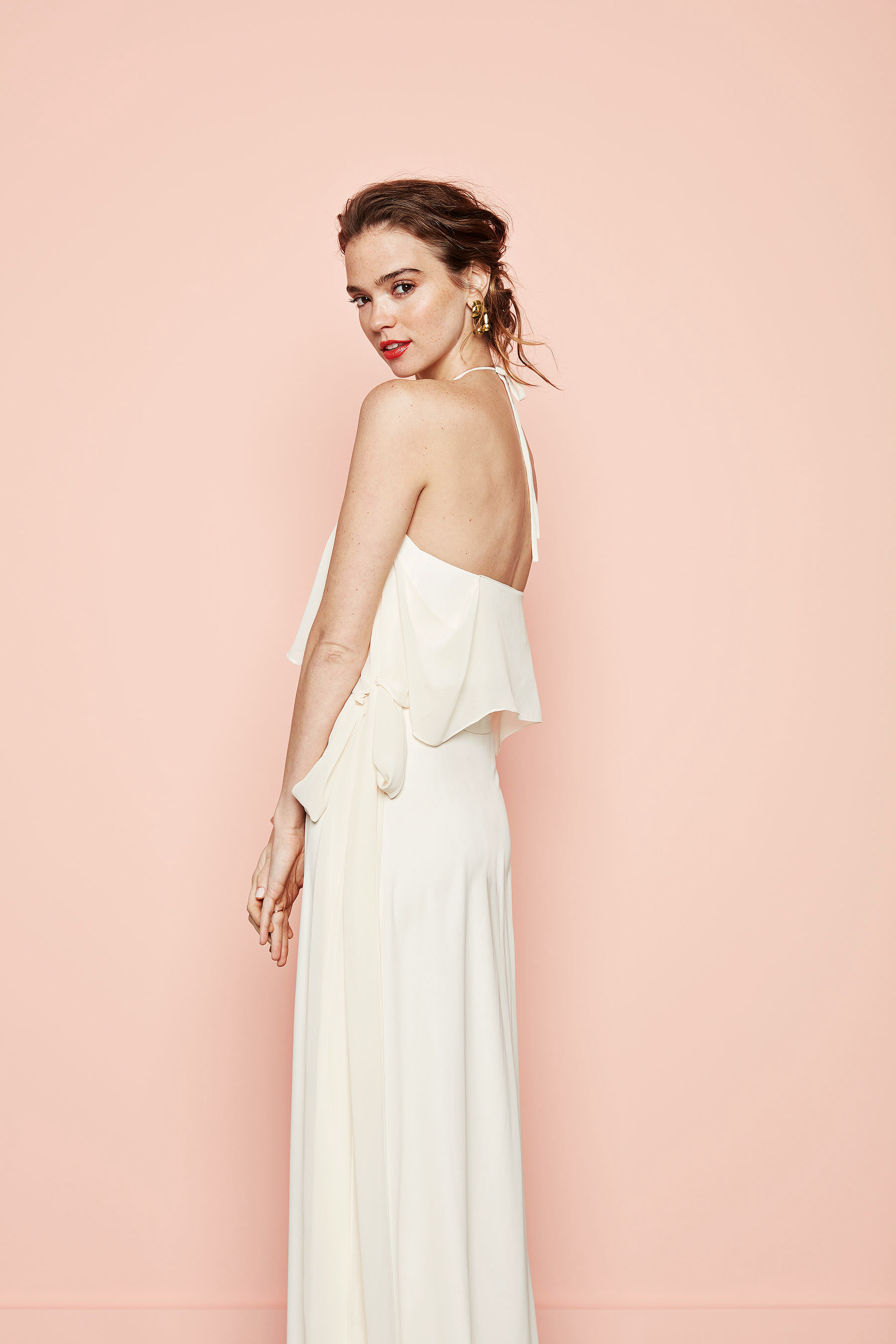 white chiffon wrap dress joanna august