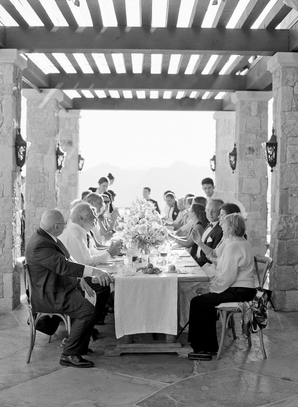 aislinn eric wedding malibu reception banquet tables guests