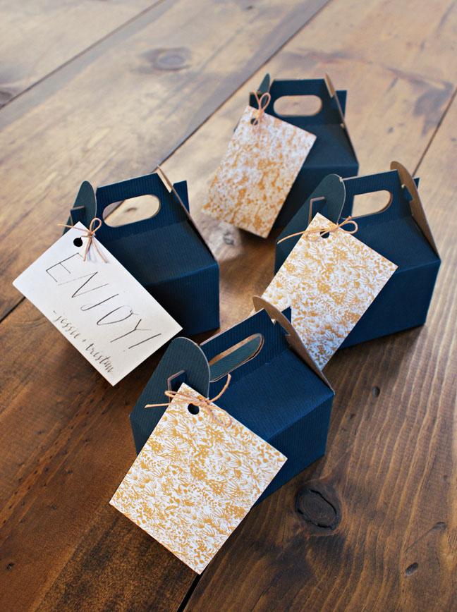 jessie tristan wedding tennessee favors blue boxes
