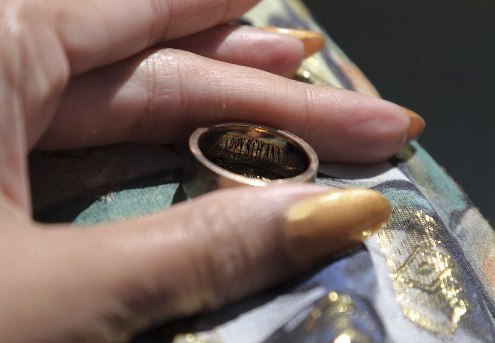 Beyonce and Jay Z Engraved Anniversary Band