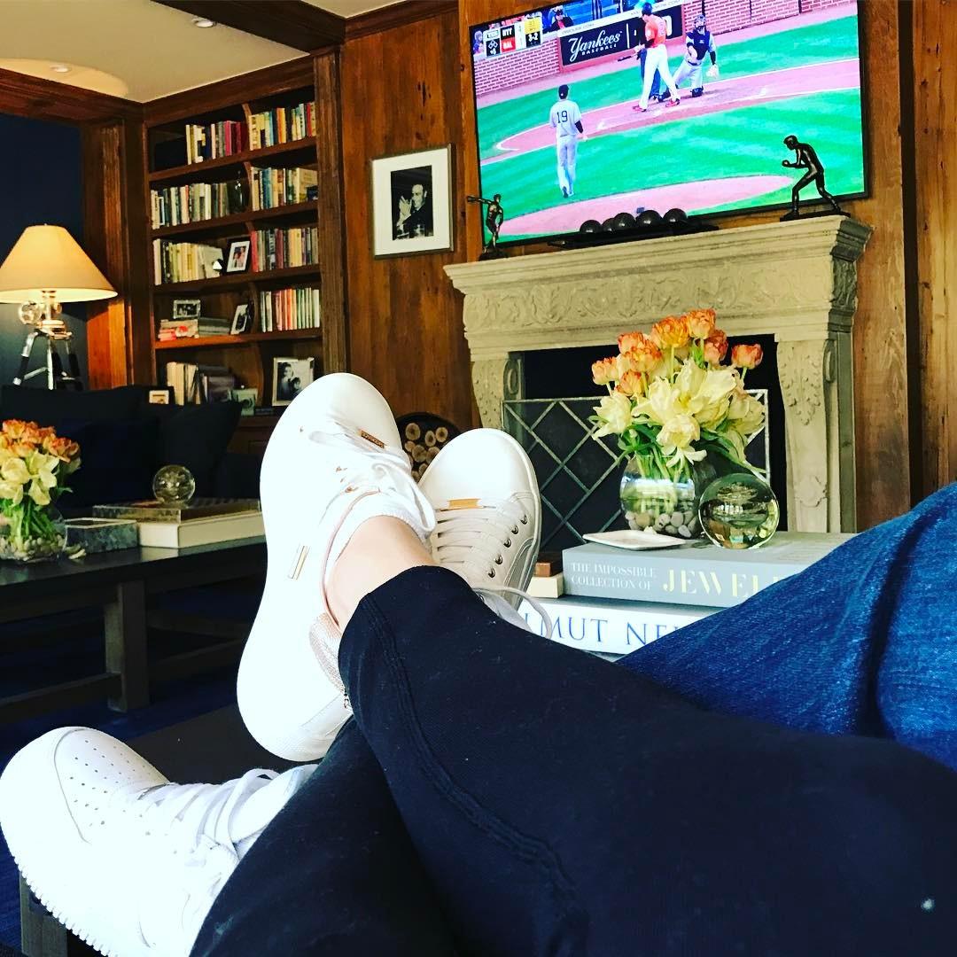 Jennifer Lopez and Alex Rodriguez Watching Sports