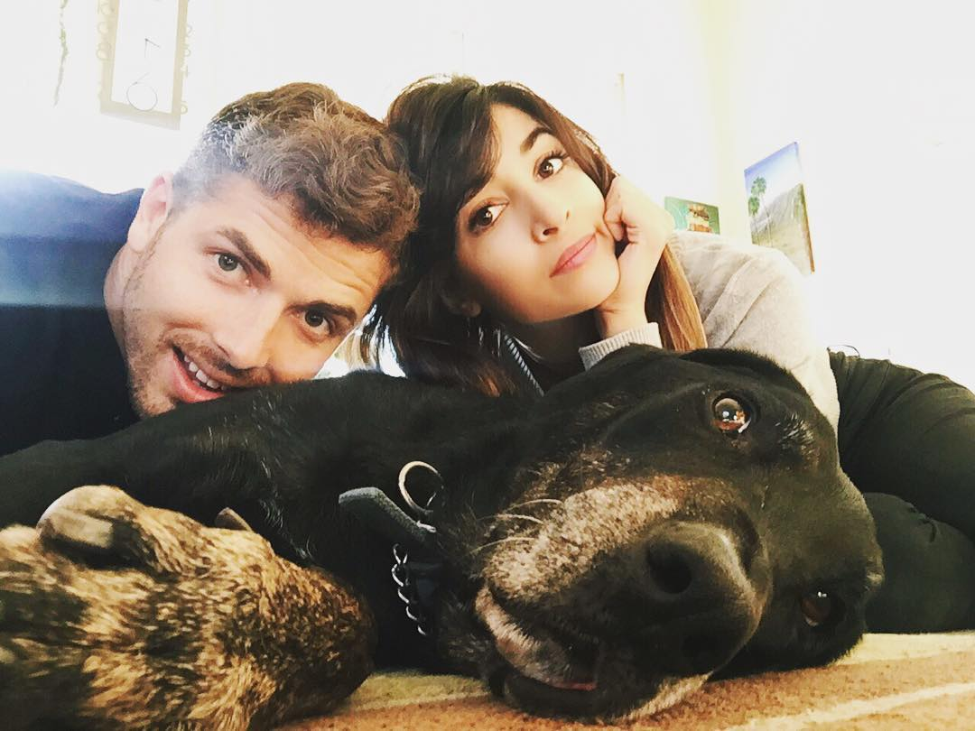 Hannah Simone and Jesse Giddings Instagram Selfie