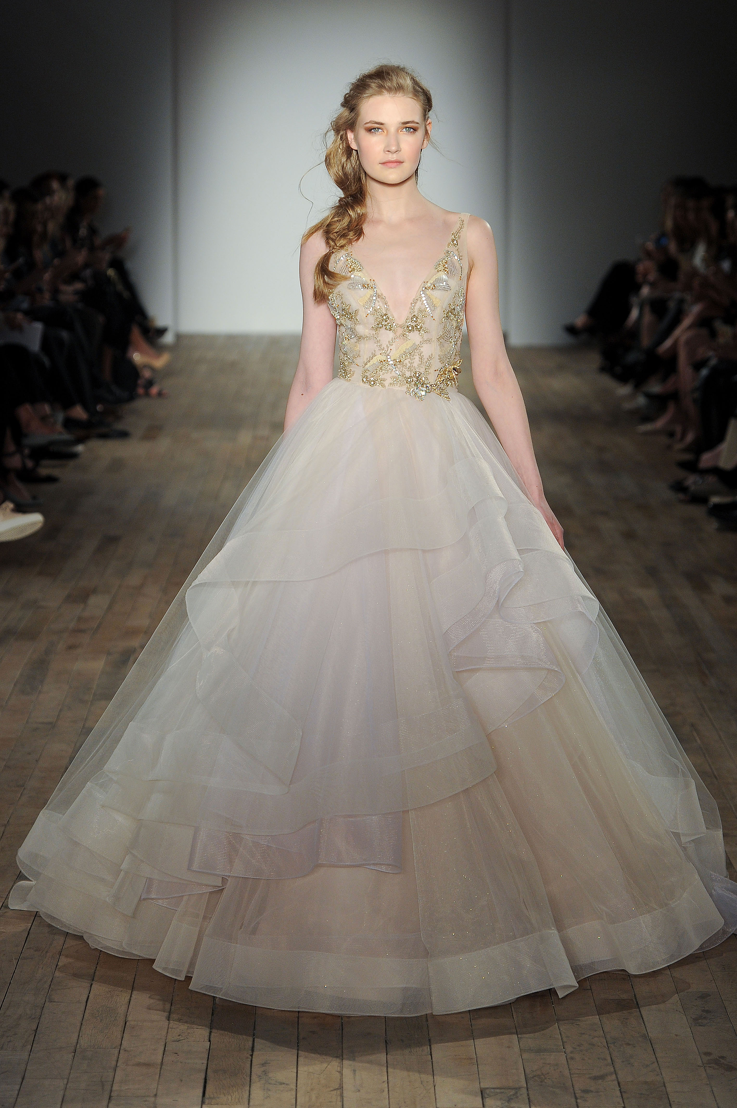 lazaro v-neck ball gown wedding dress spring 2018