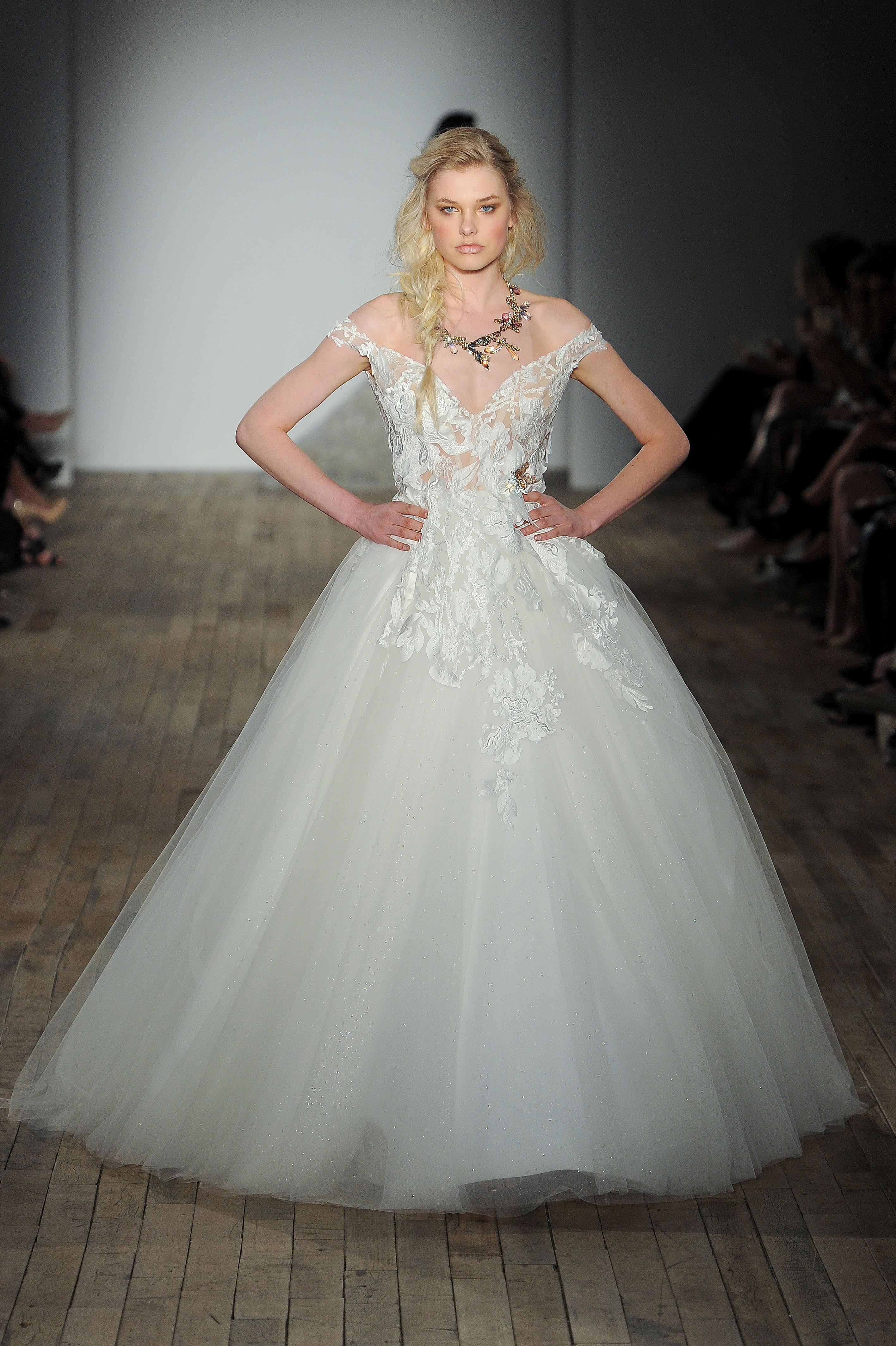 lazaro off-shoulder wedding dress spring 2018