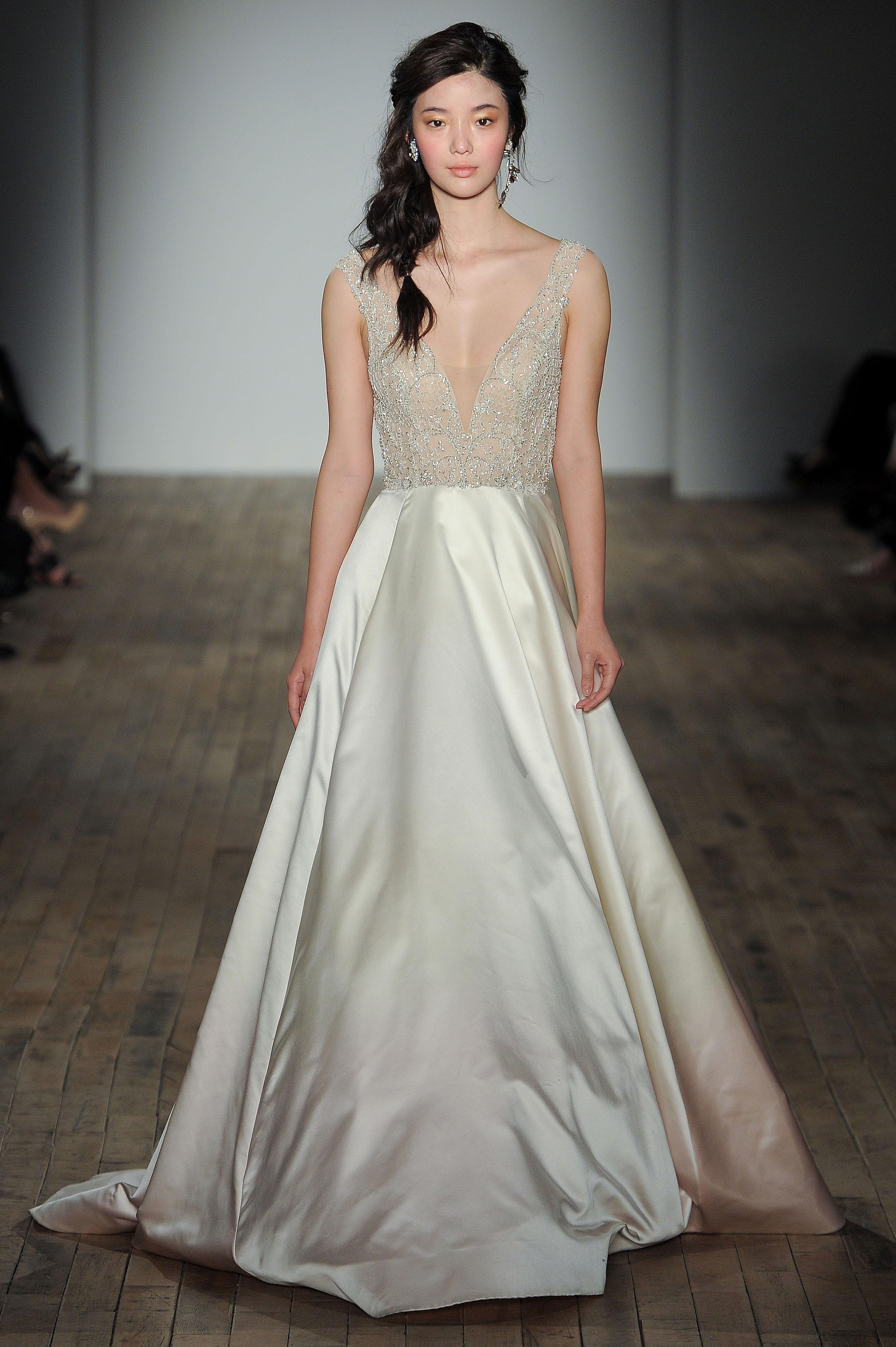 lazaro v-neck a-line wedding dress spring 2018