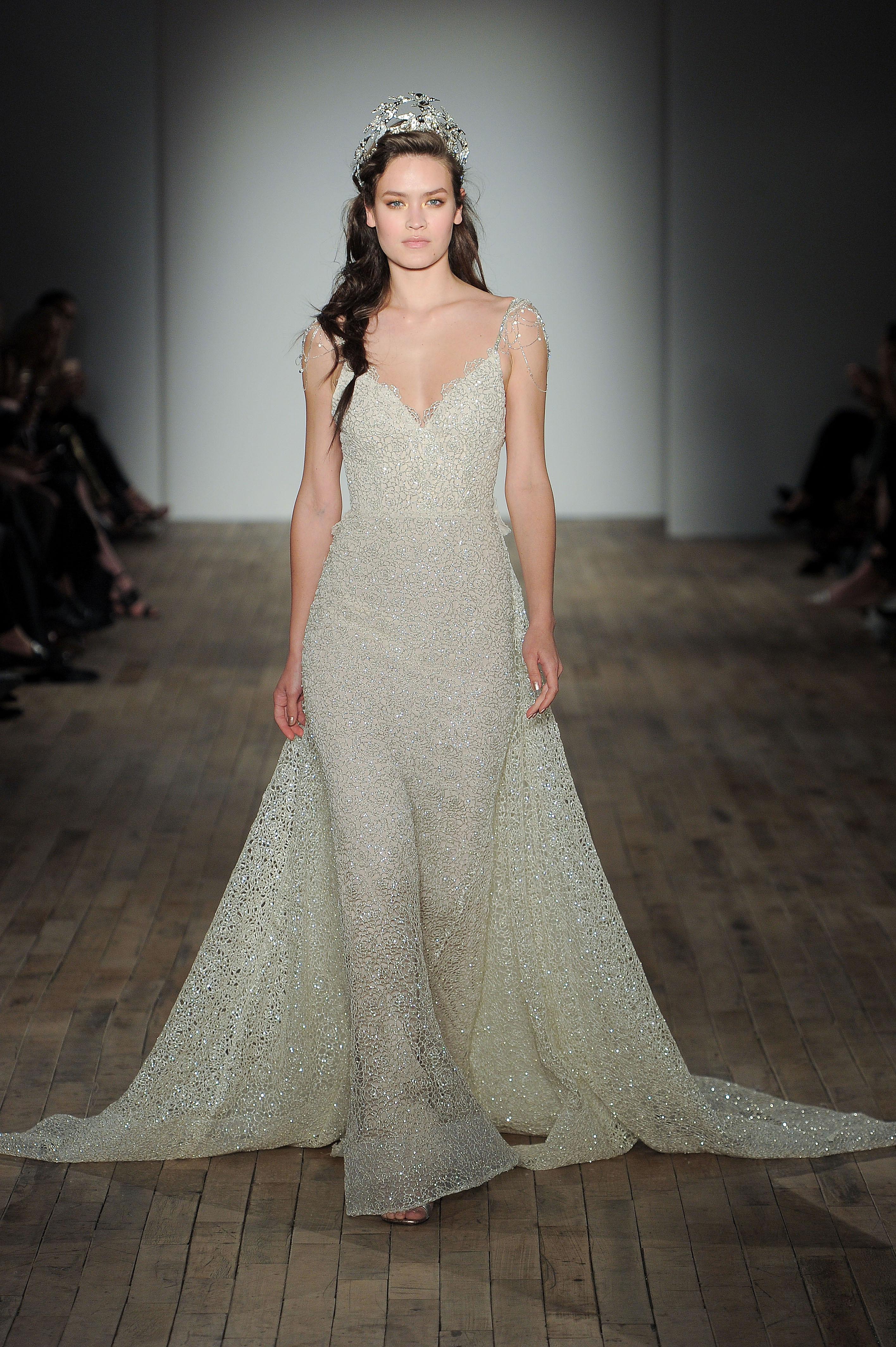 lazaro v-neck spaghetti strap wedding dress spring 2018