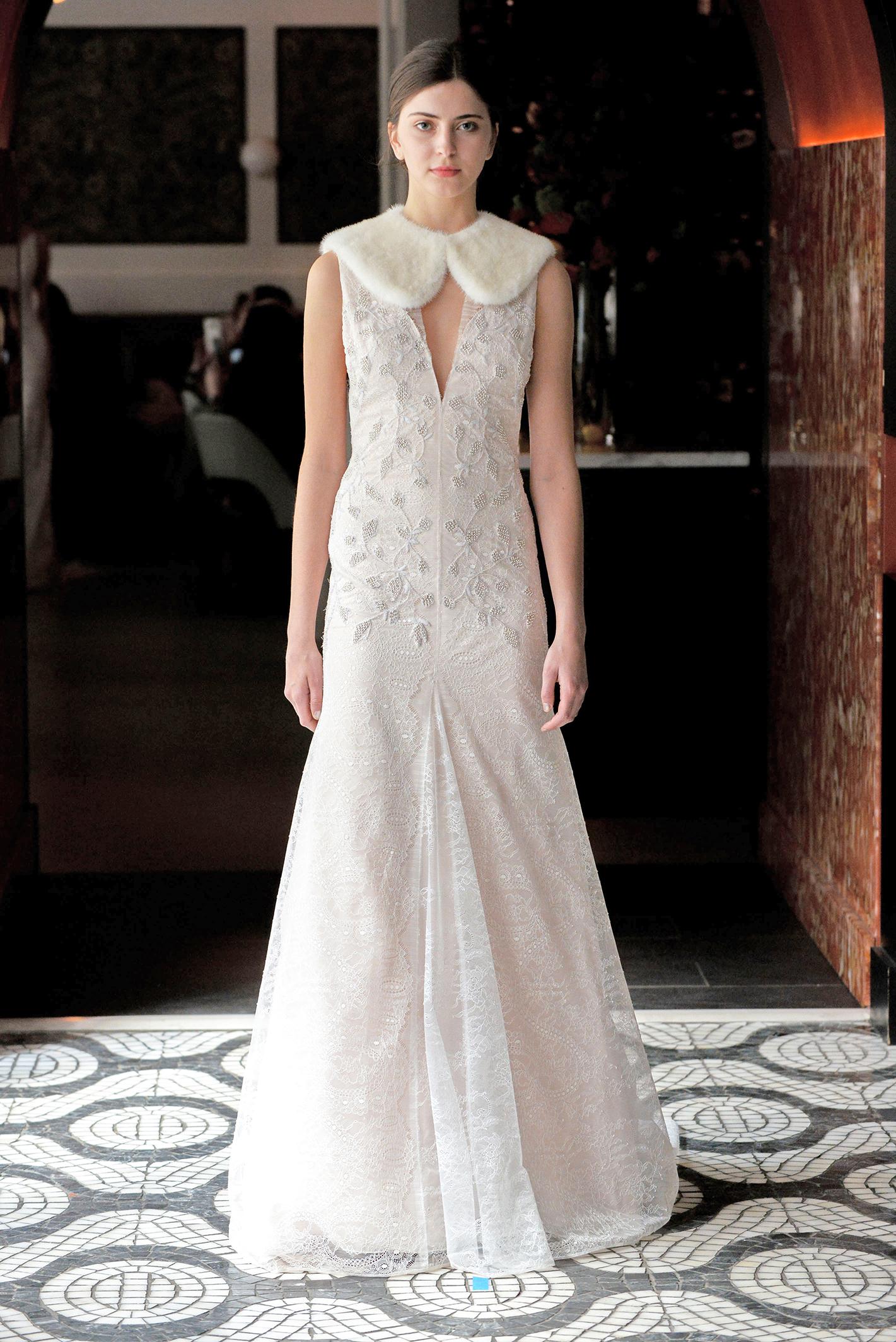 lela rose wedding dress spring 2018 deep v-neck