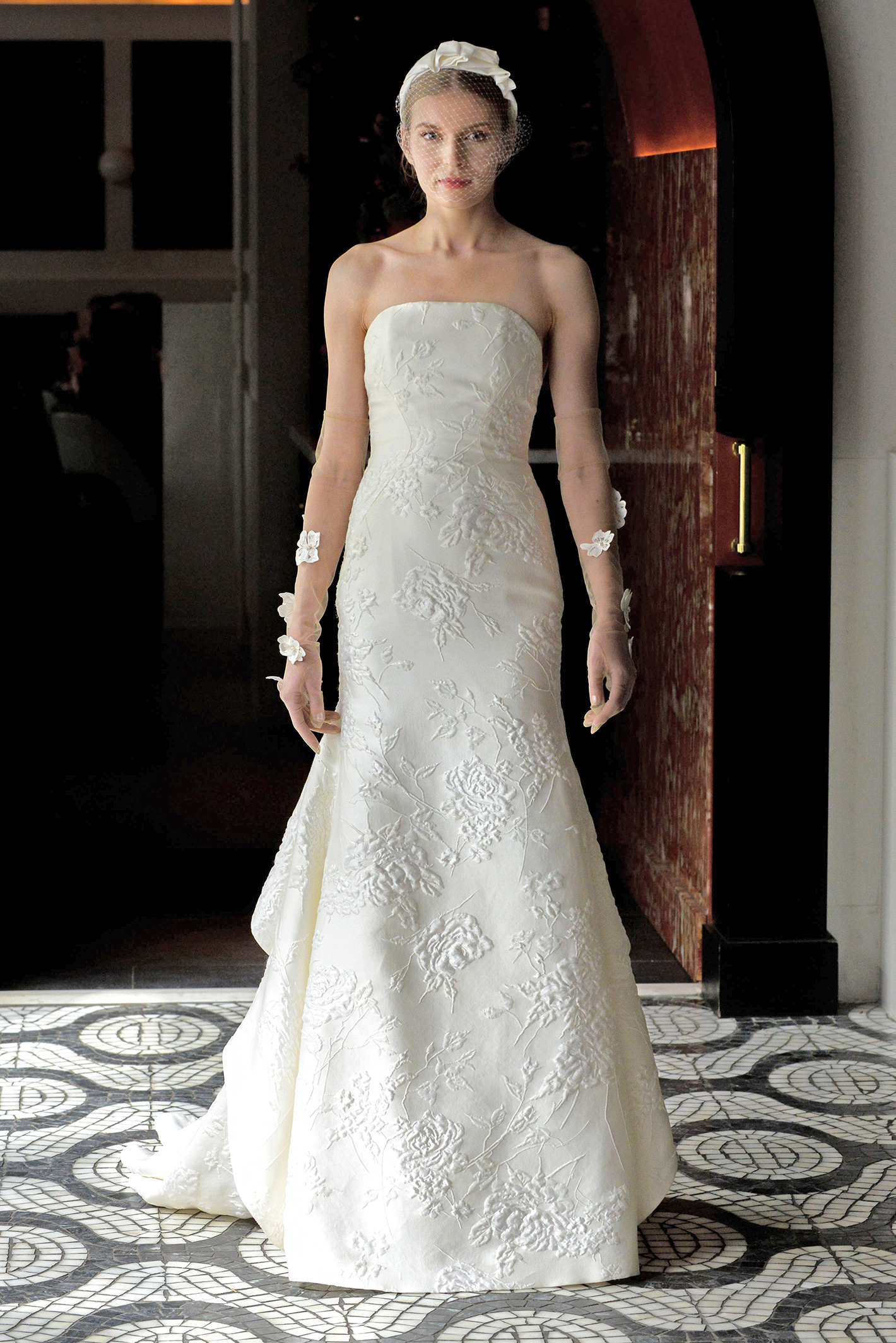 lela rose wedding dress spring 2018 strapless embroidered