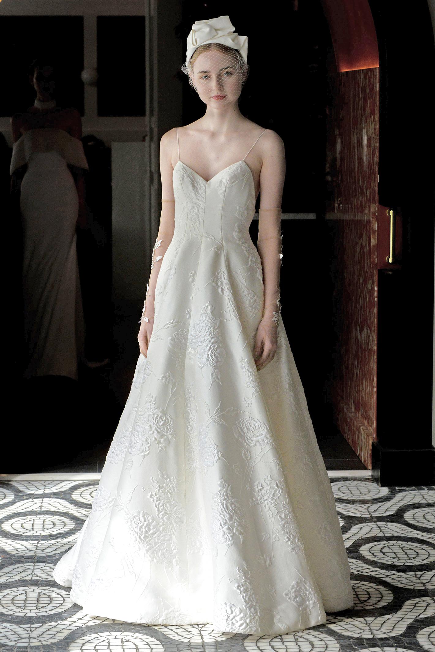 lela rose wedding dress spring 2018 spaghetti strap a-line