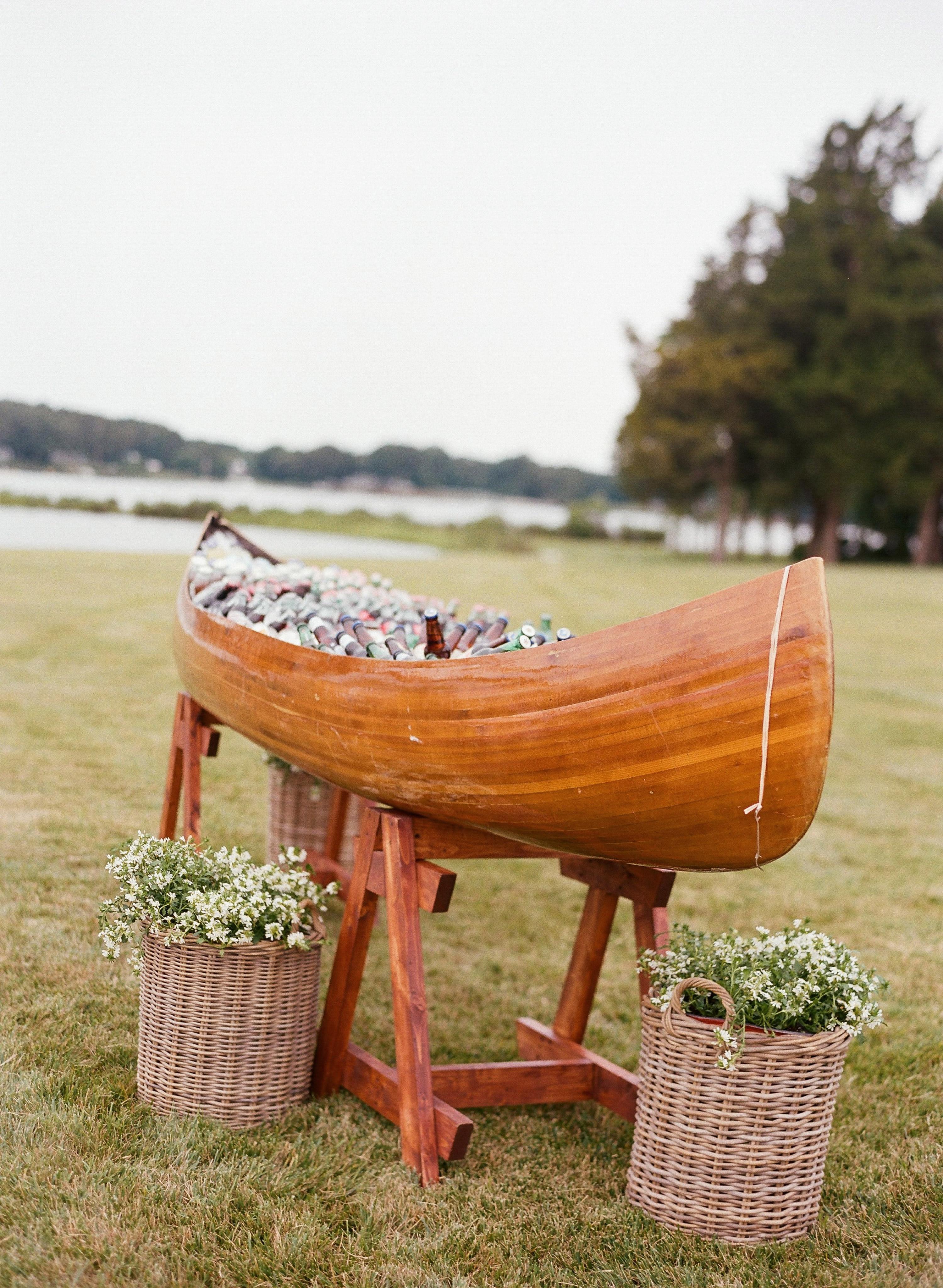 caroline kyle patriotic party beer canoe