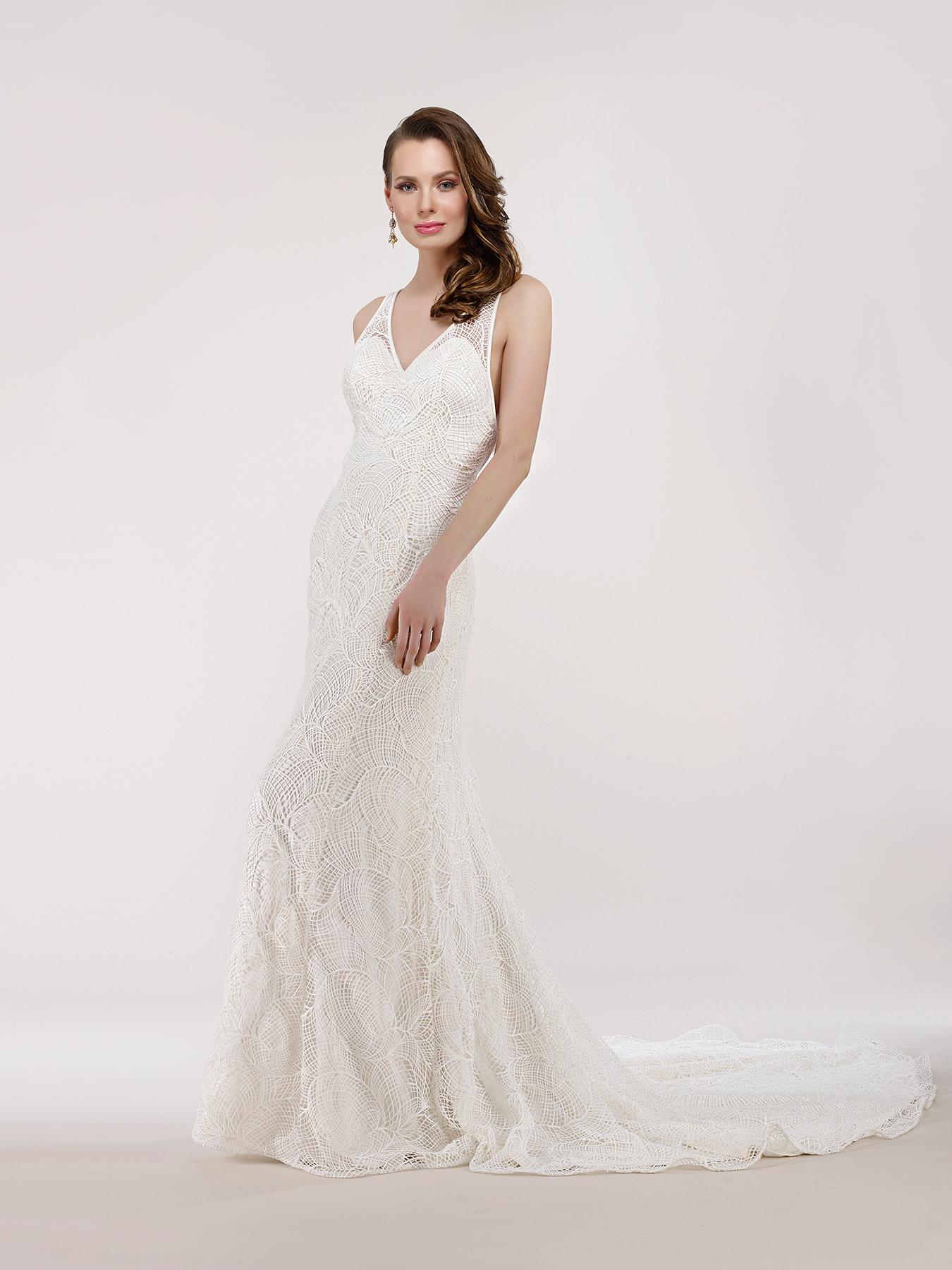 steven birnbaum wedding dress spring 2018 v-neck lace