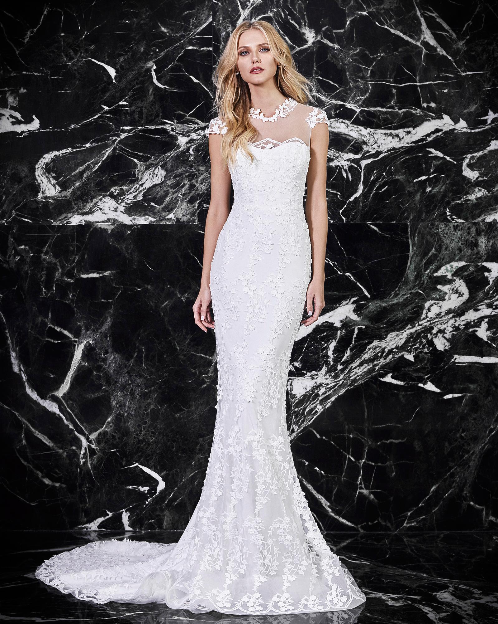 victoria kyriakides cap sleeve wedding dress spring 2018