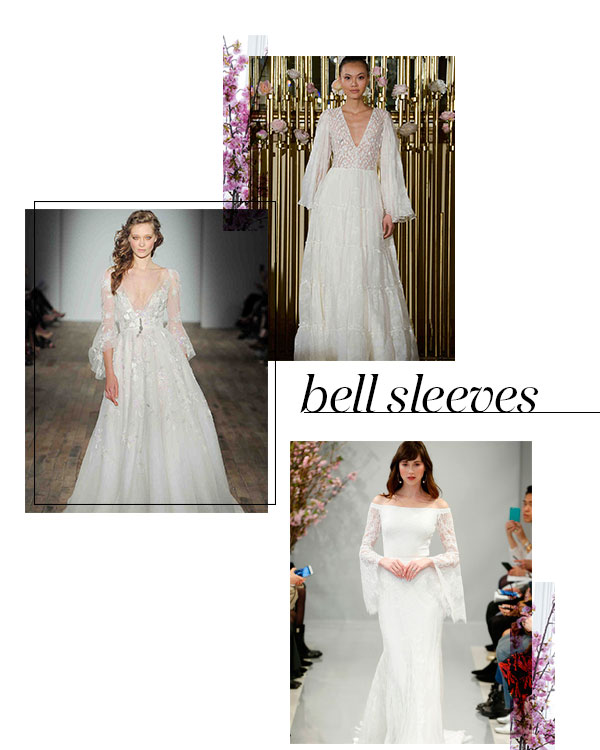 Spring 2018 Bridal Fashion Week Trends Bell Sleeves