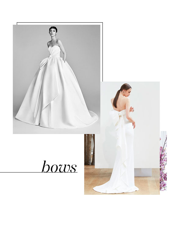 Spring 2018 Bridal Fashion Week Bow Trend