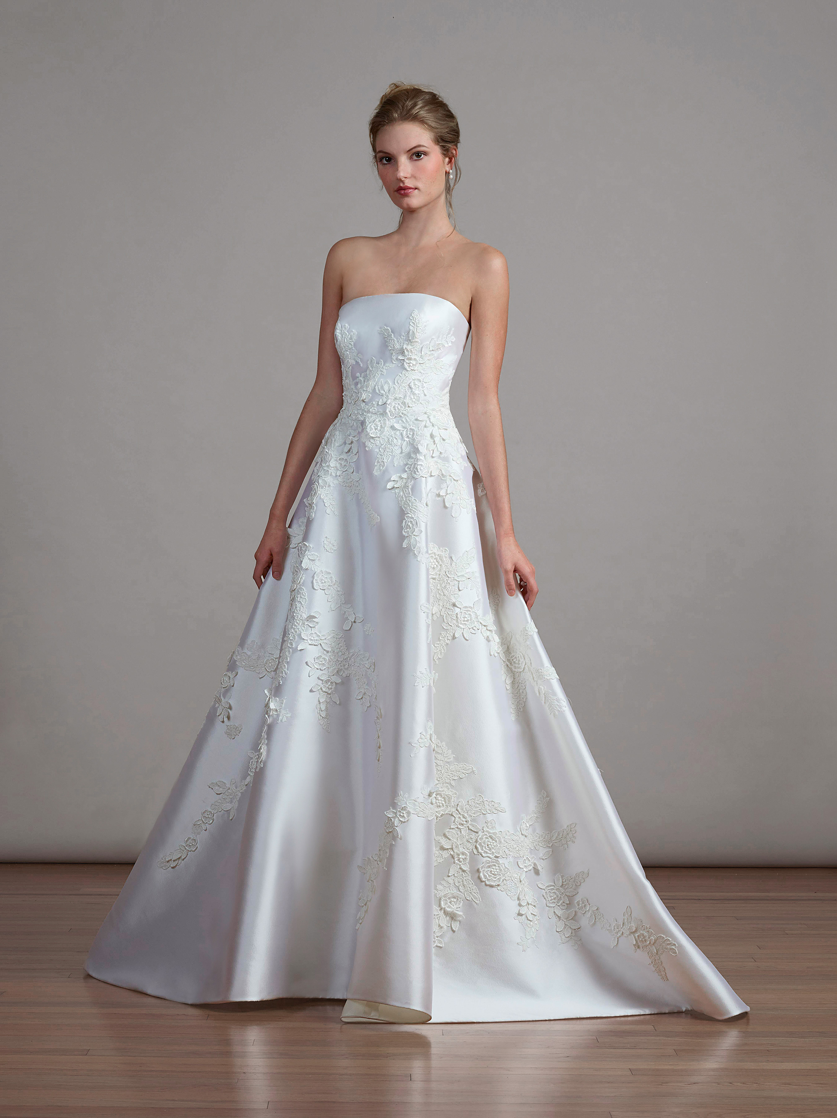 liancarlo a-line strapless wedding dress