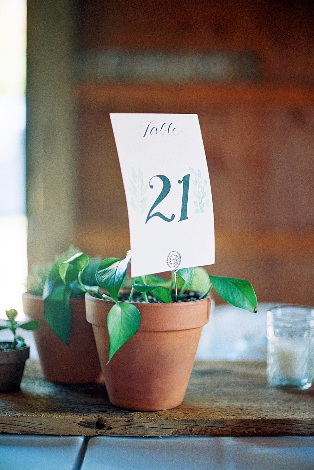 rachel elijah wedding table number