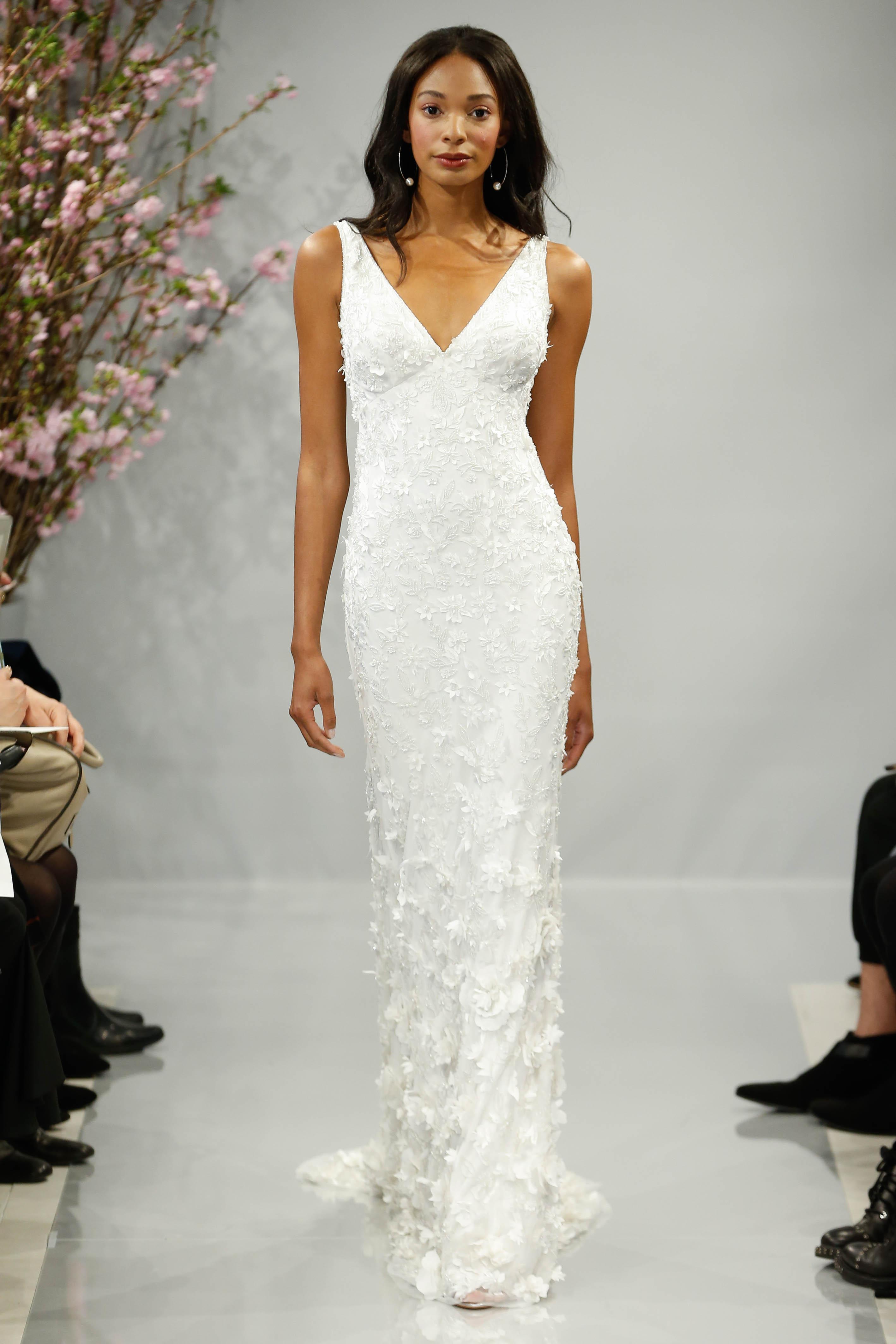 theia wedding dress spring 2018 sleeveless v-neck embellished