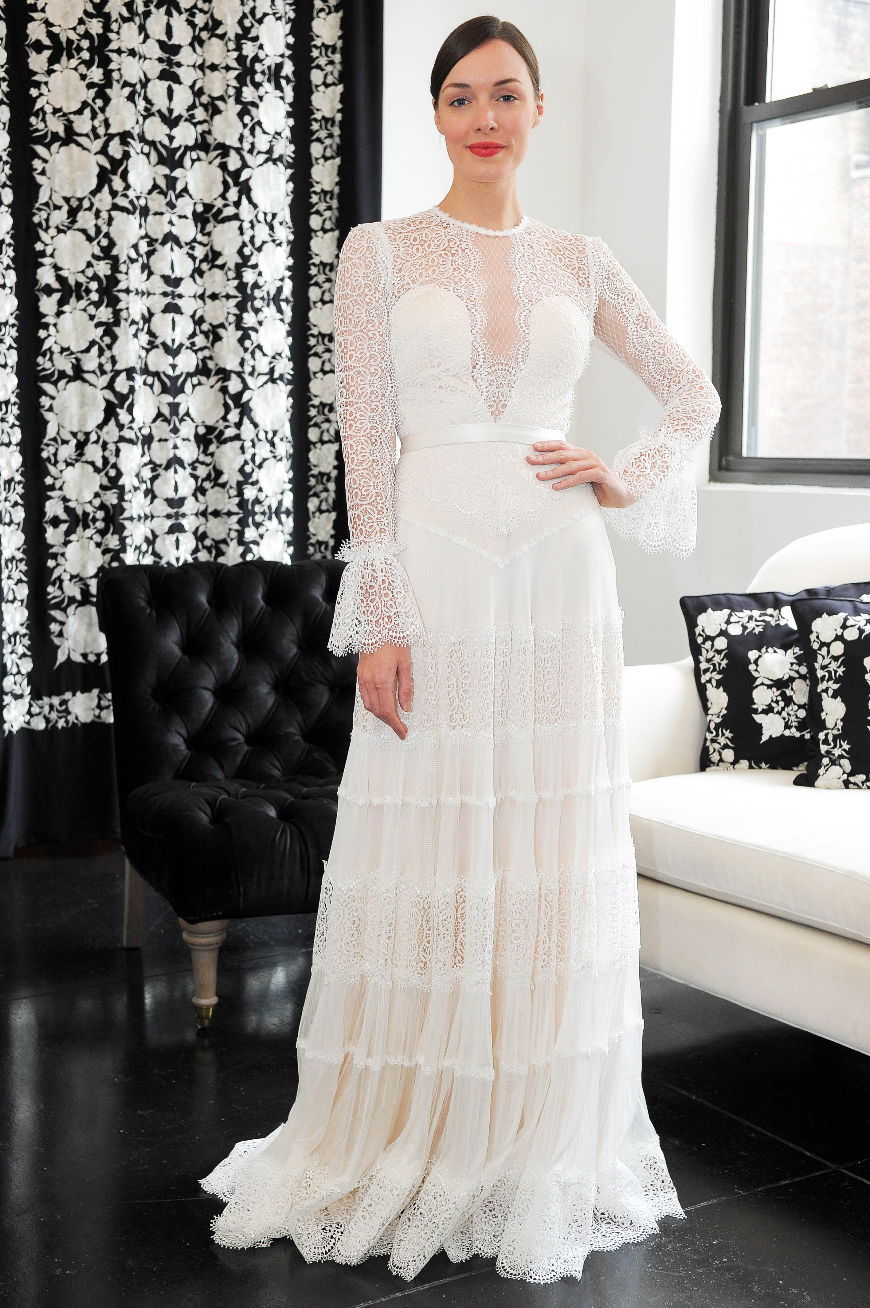 bell sleeve lace catherine deane wedding dress spring 2018