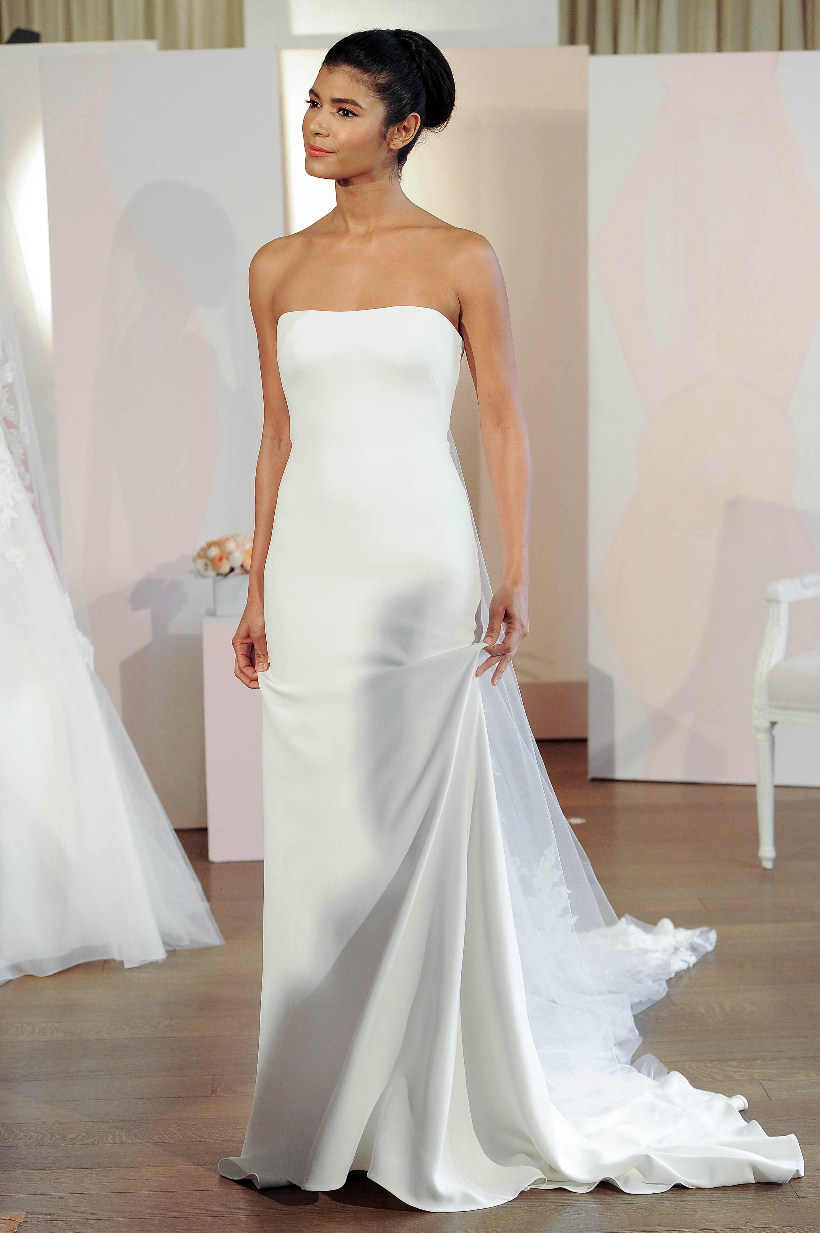 anne barge strapless a-line wedding dress spring 2018