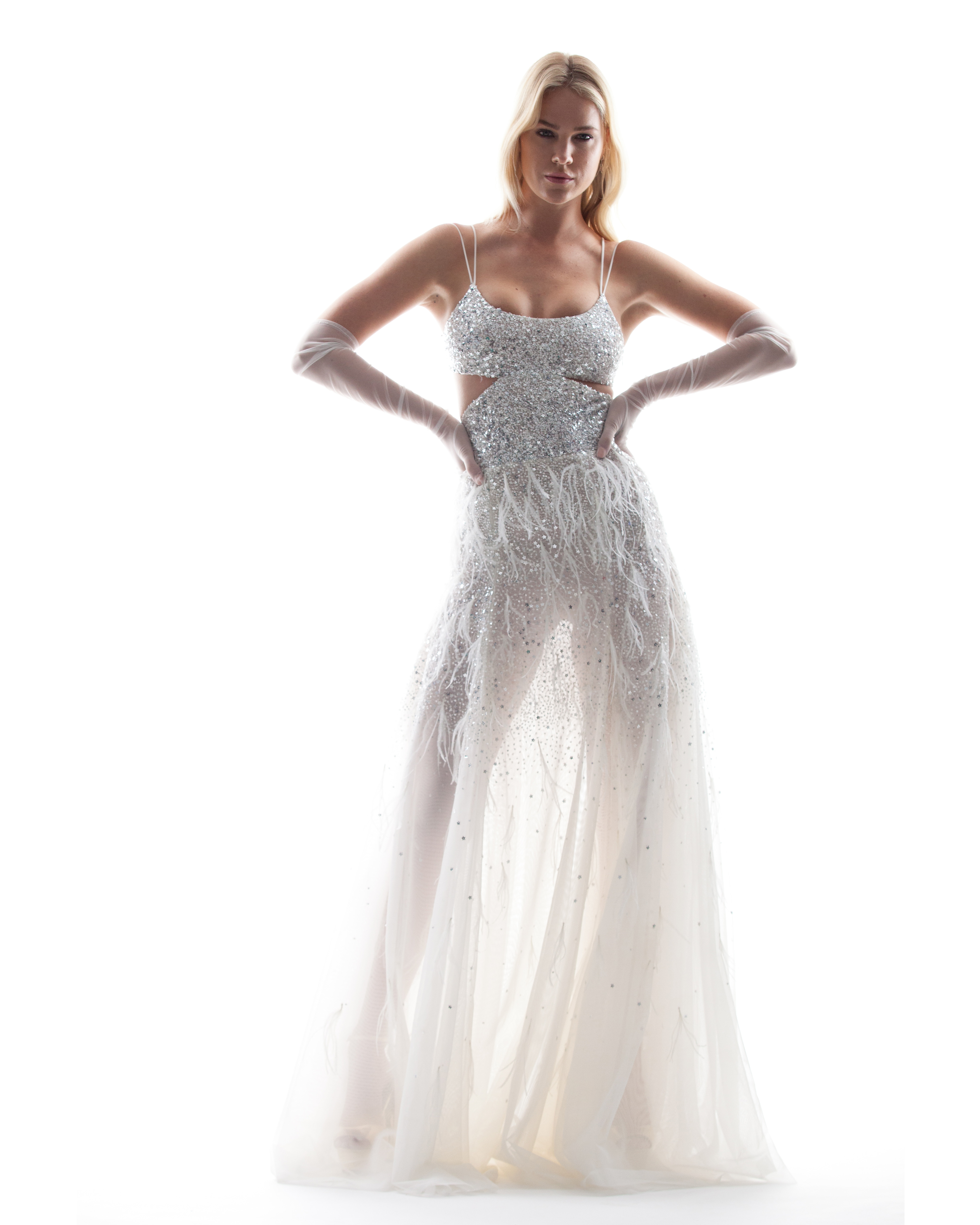 sparkly houghton wedding dress spring 2018 with spaghetti straps