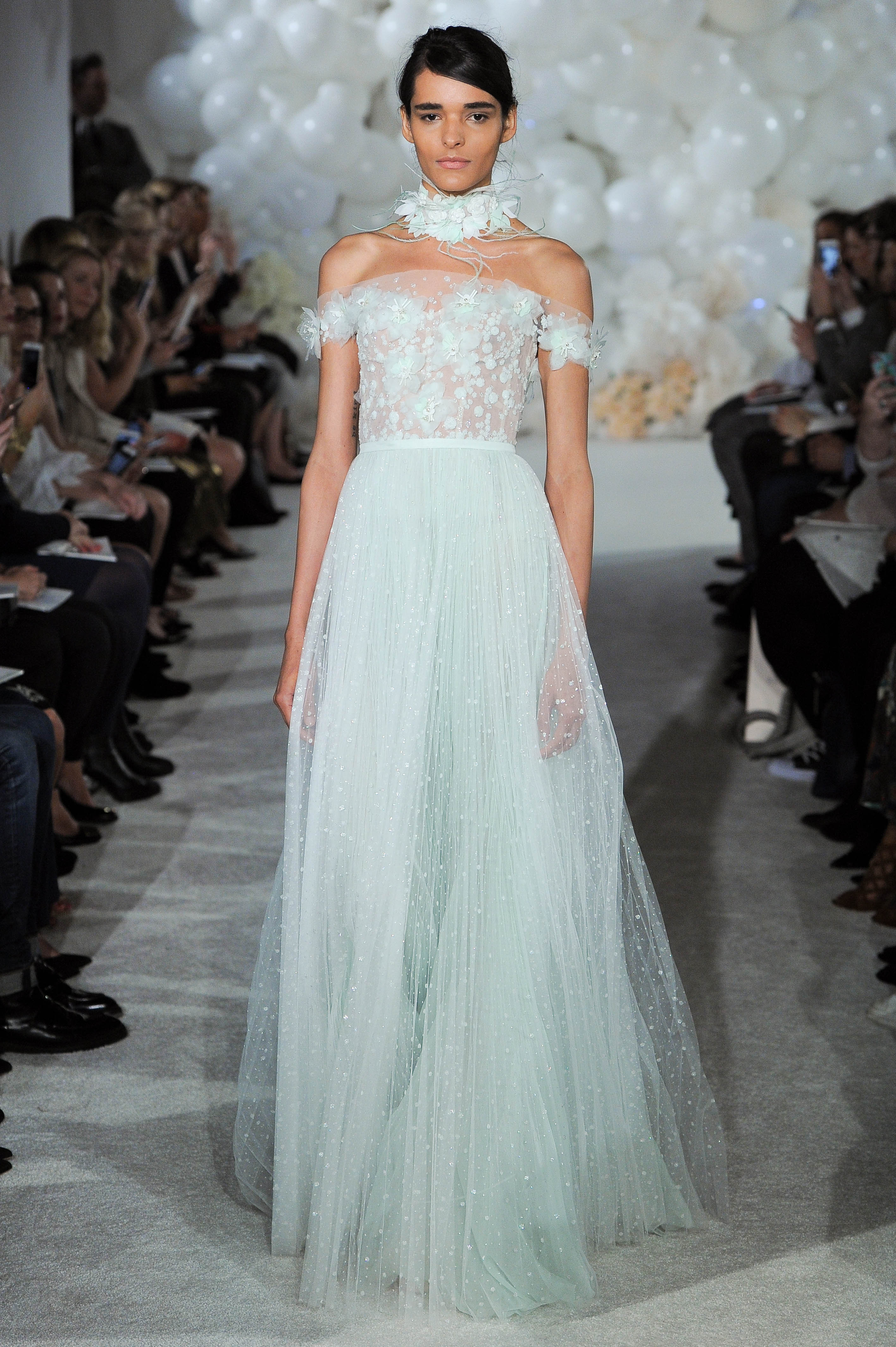 mira zwillinger teal wedding dress spring 2018 drop sleeve