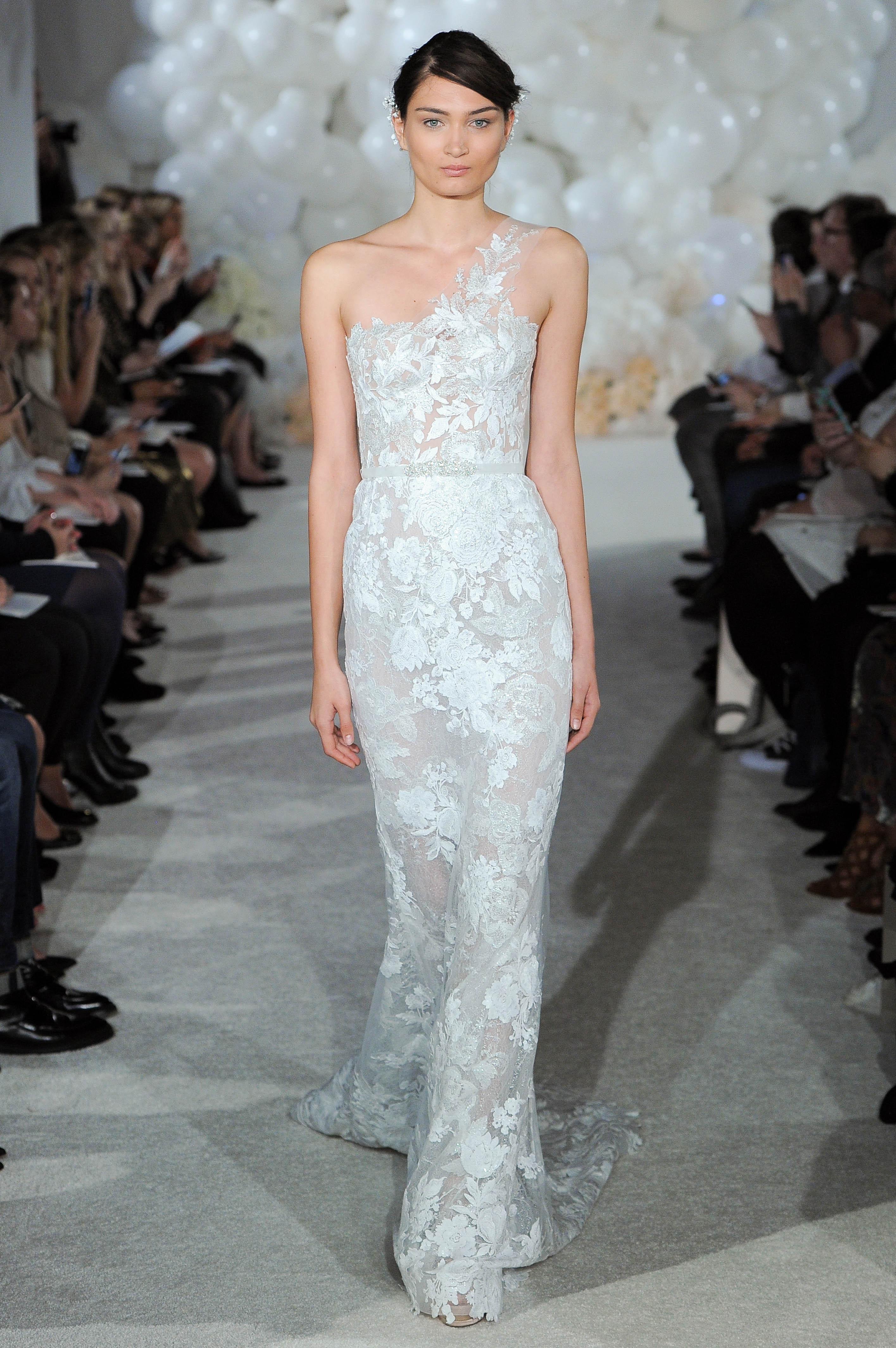 mira zwillinger wedding dress spring 2018 lace one-shoulder