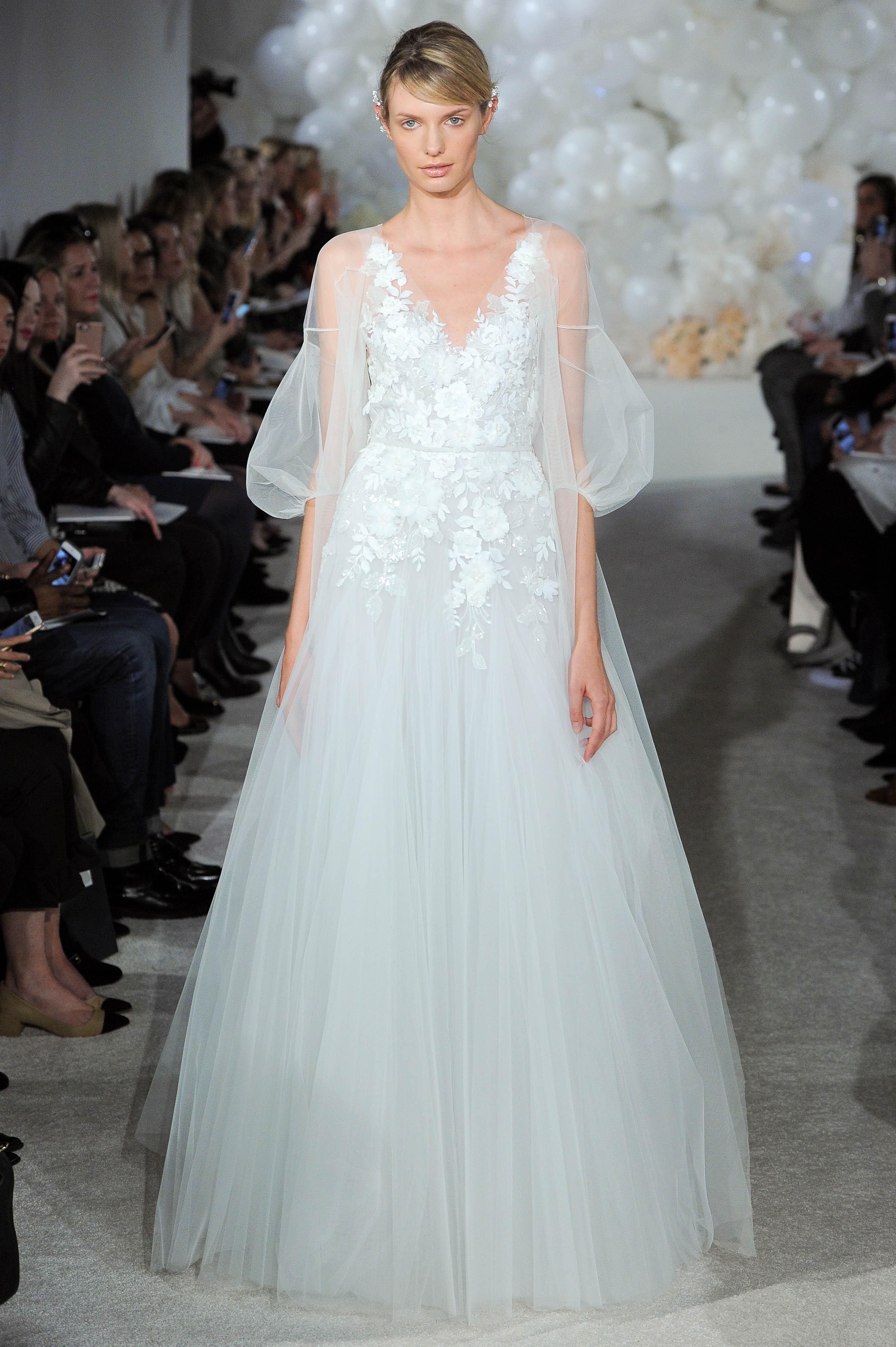 mira zwillinger wedding dress spring 2018 three-quarter length sleeves