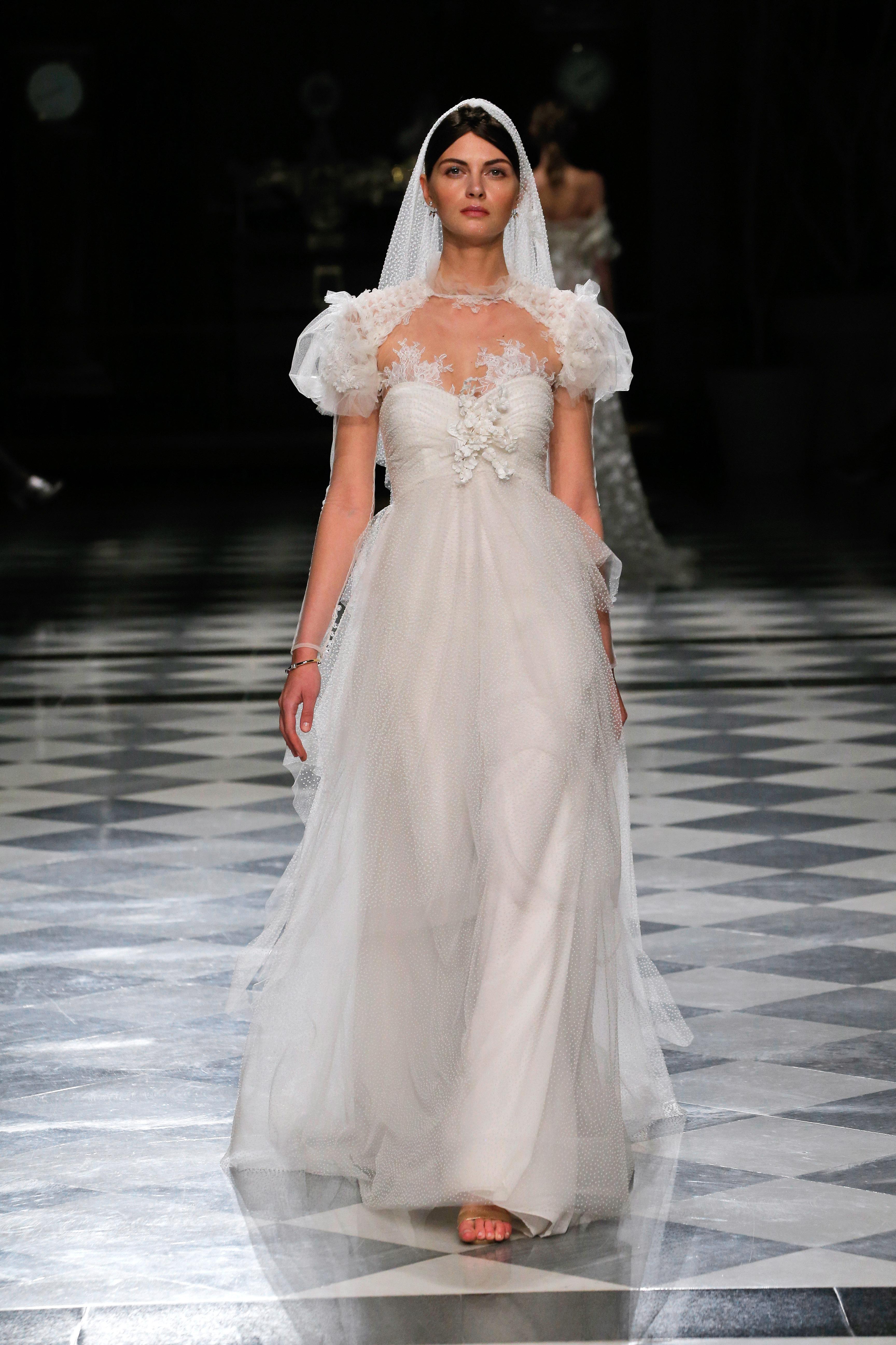 yolancris short sleeves sweetheart wedding dress spring 2018