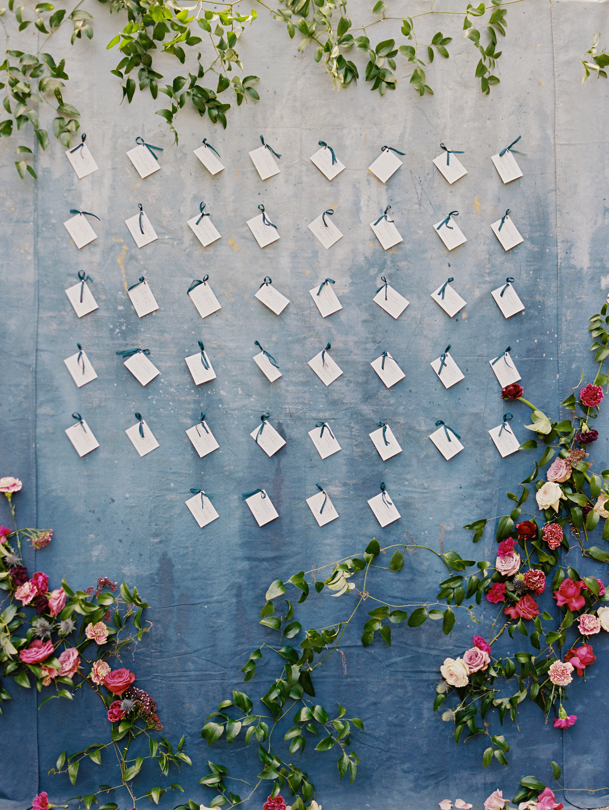 samantha michael wedding escort cards