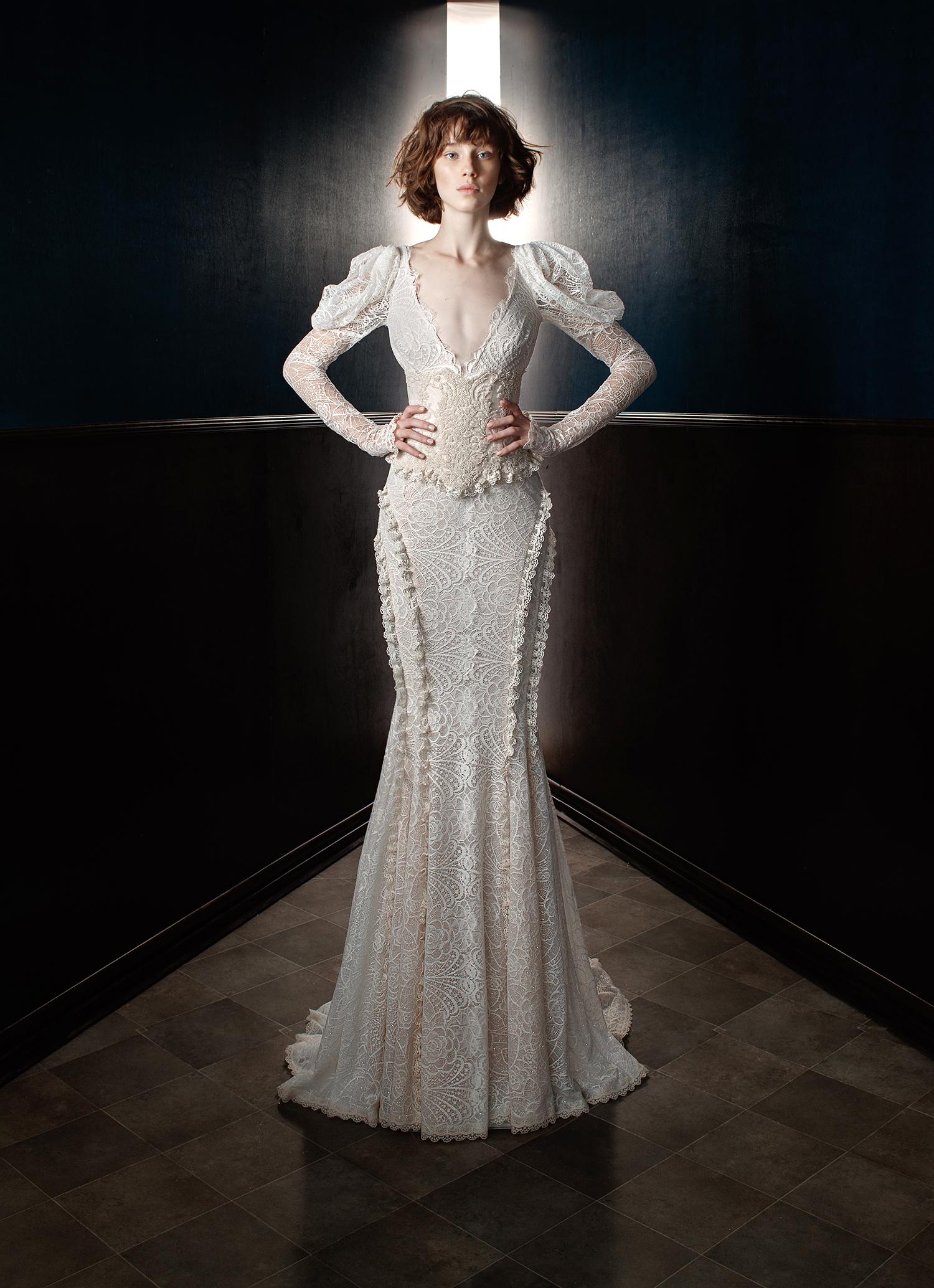 galia lahav wedding dress spring 2018 long sleeves lace mermaid
